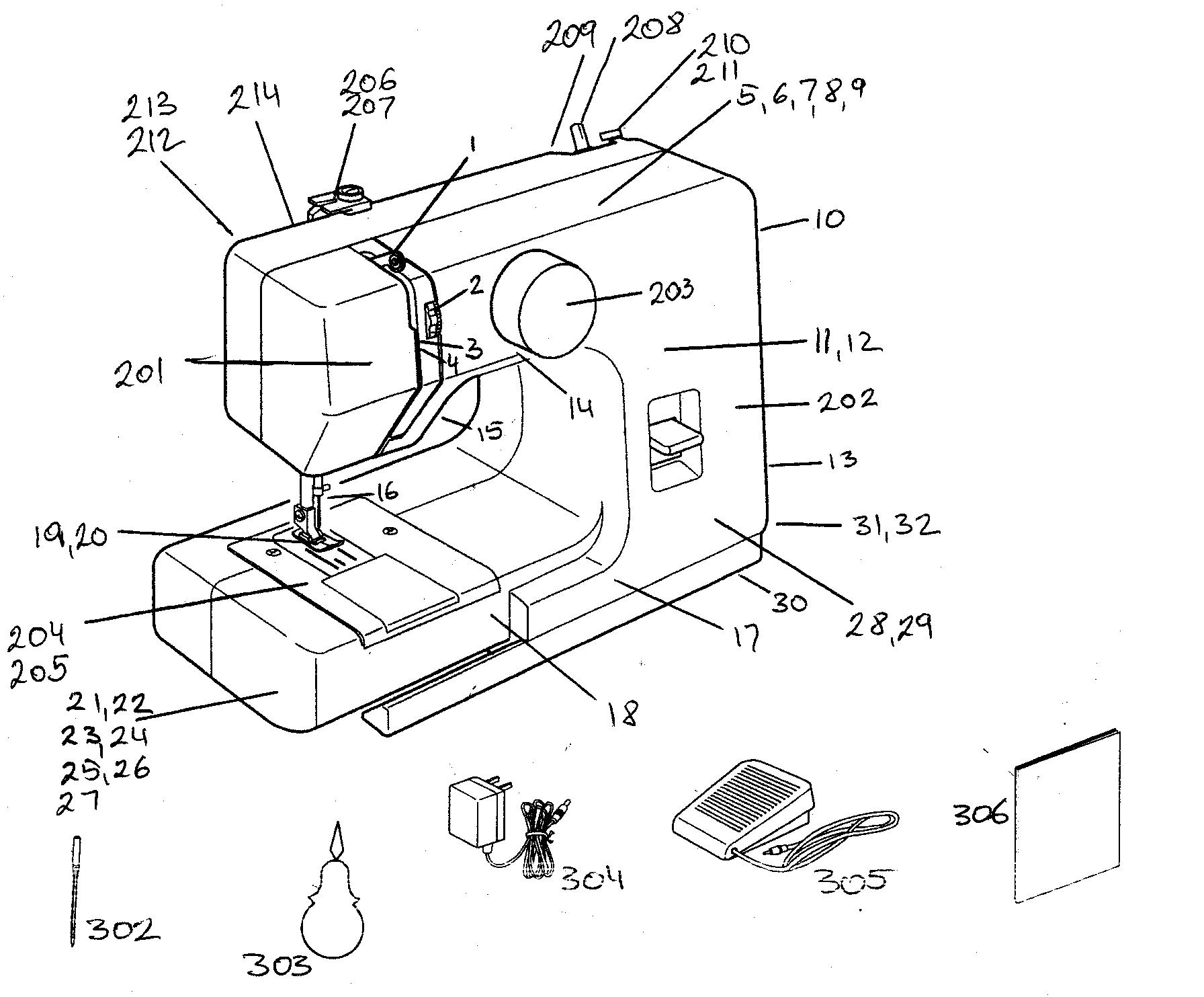 singer 648 sewing machine threading diagram