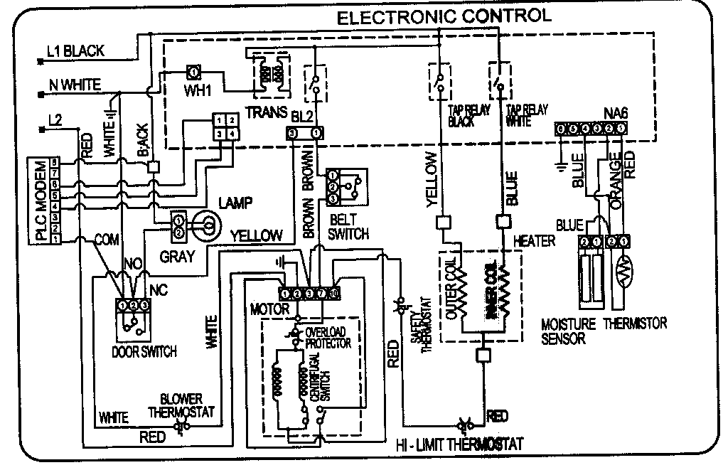 wiring diagram lg dryer