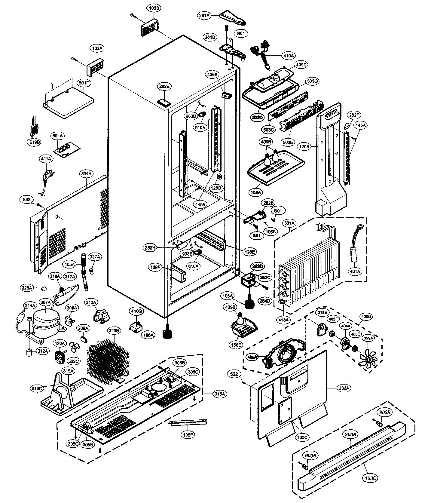 lg refrigerator manual bottom freezer