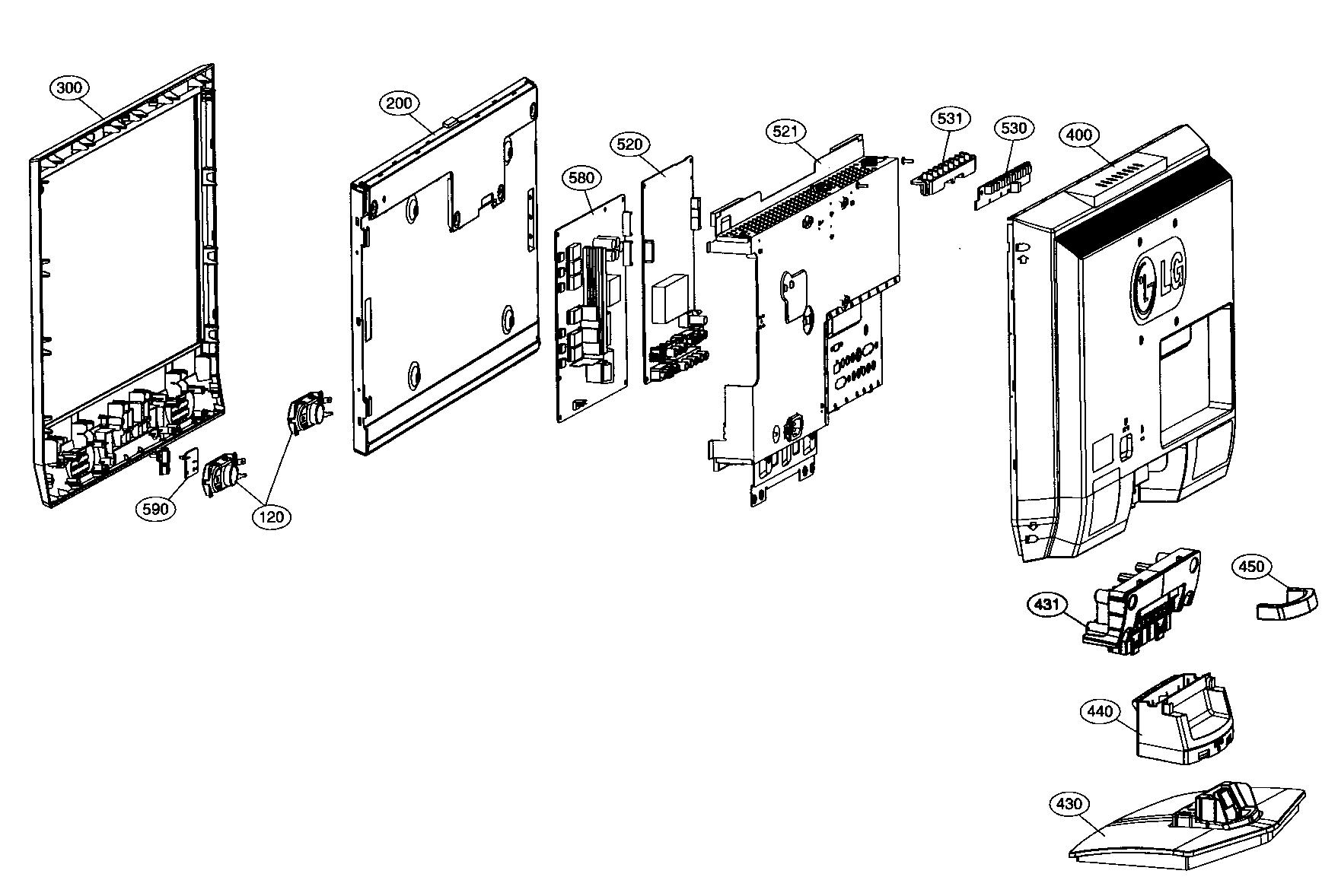 lg tv back diagram