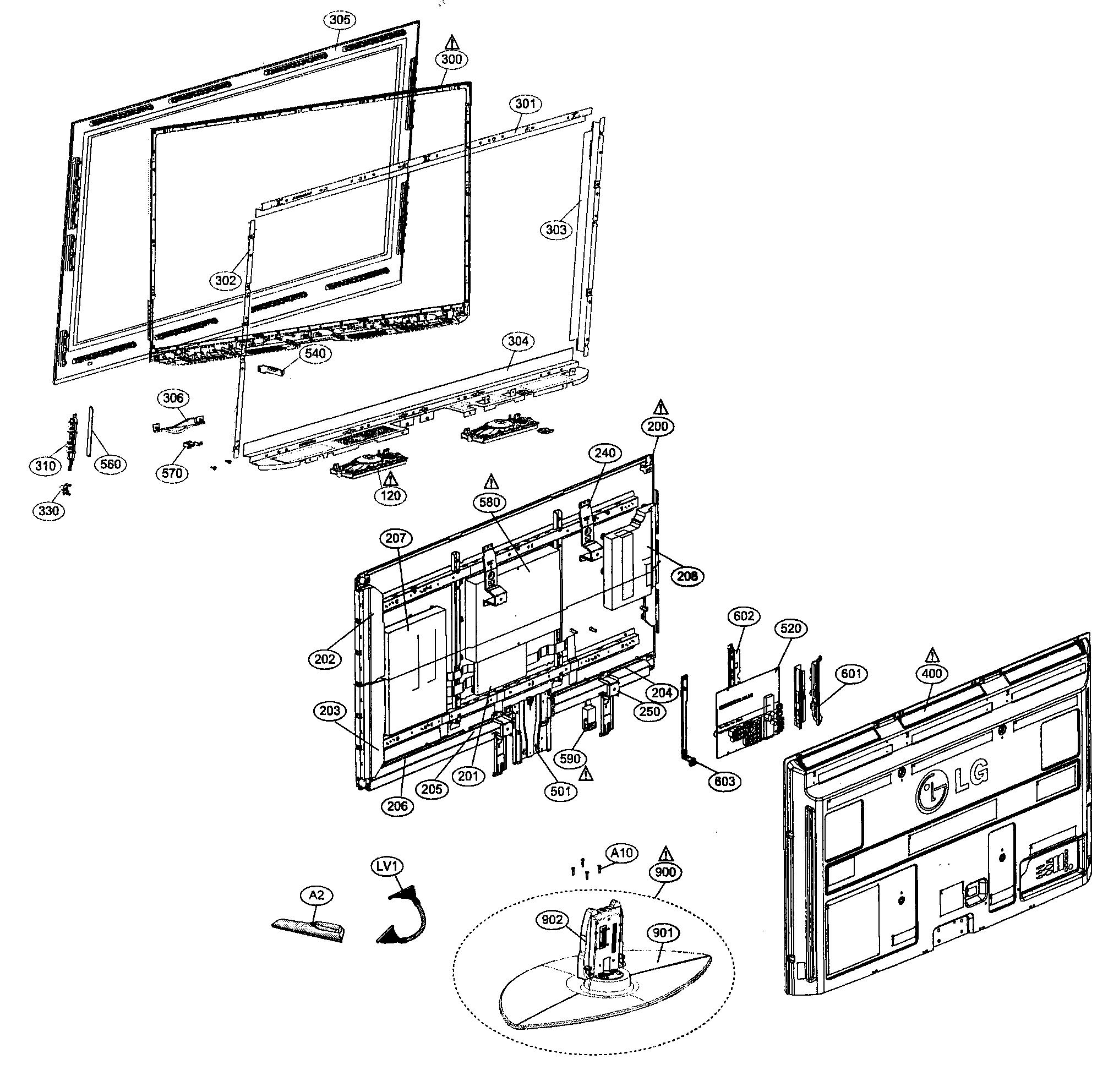lg tv remote diagram