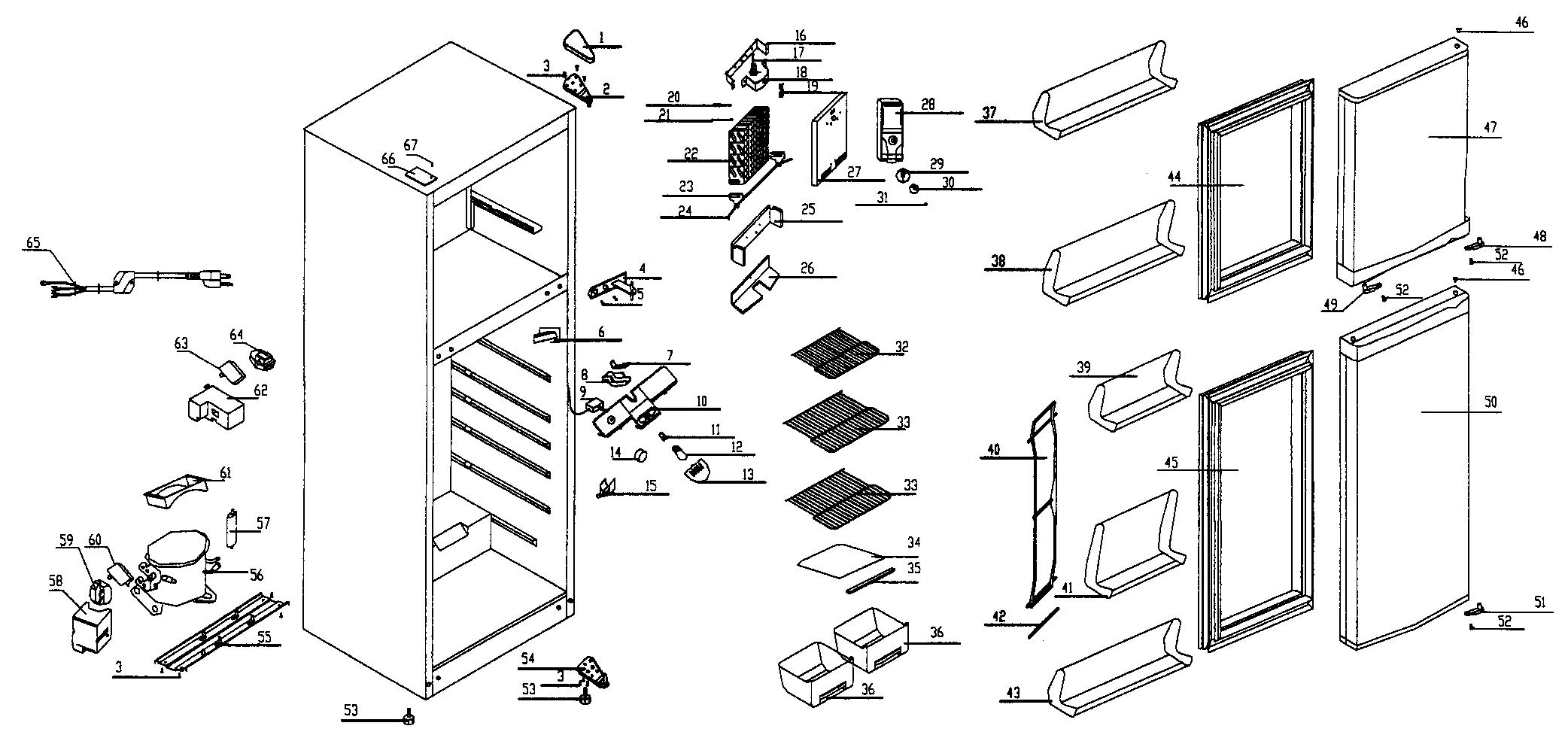 haier fridge diagram