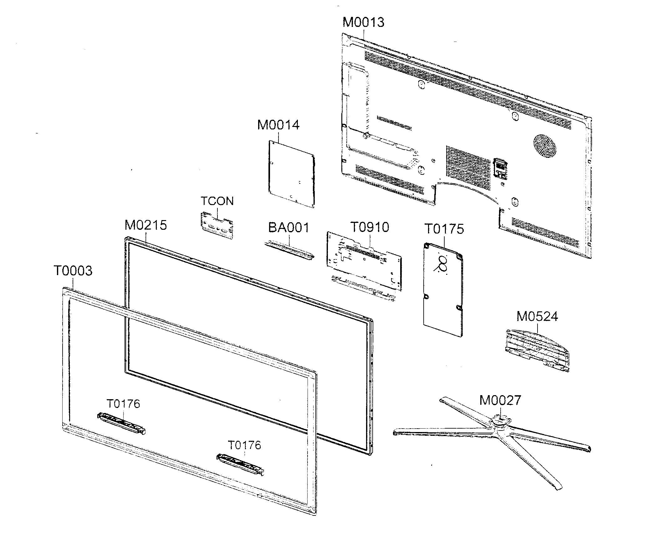 samsung led tv diagram