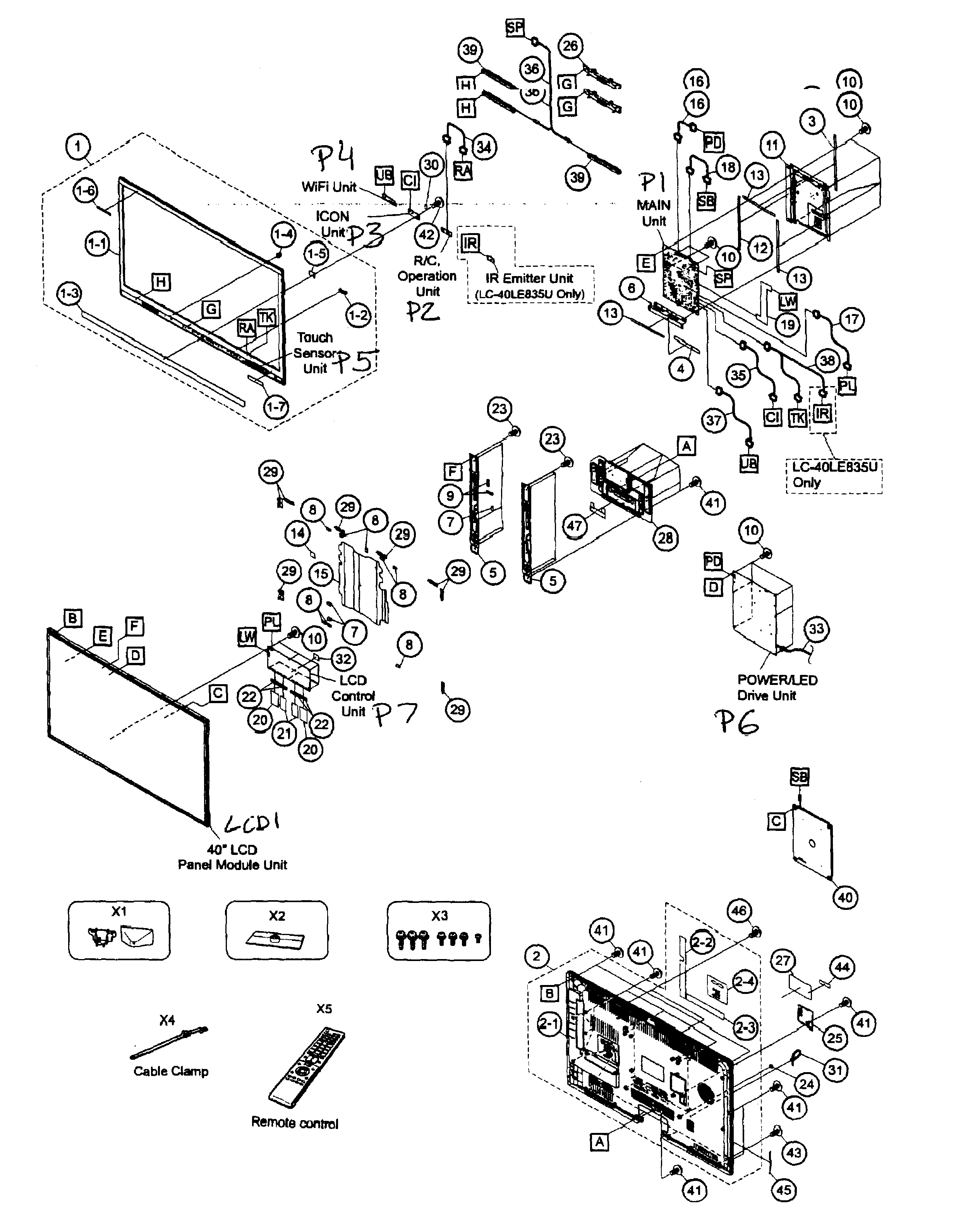 diagram of motherboard westinghouse ld3235