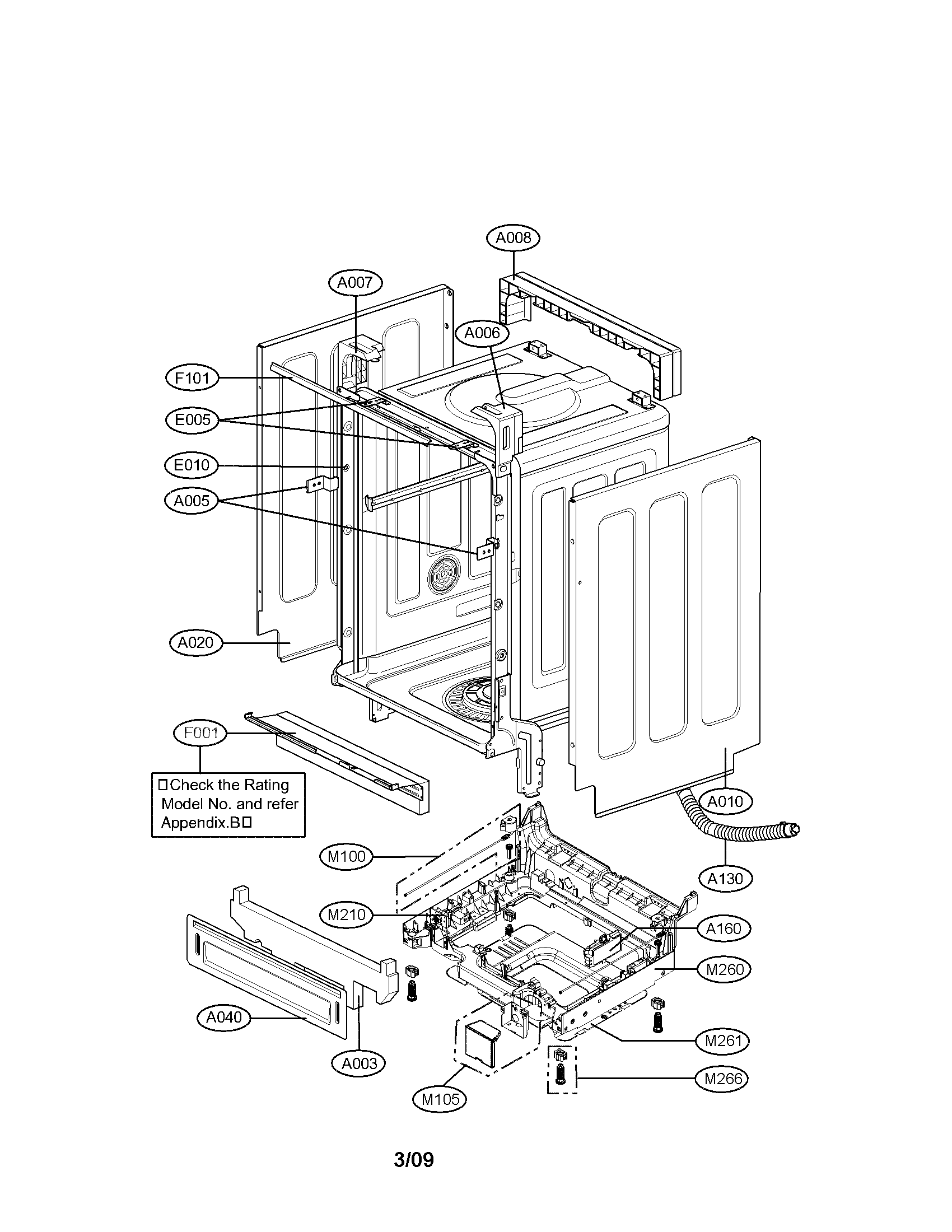 lg dishwasher diagram