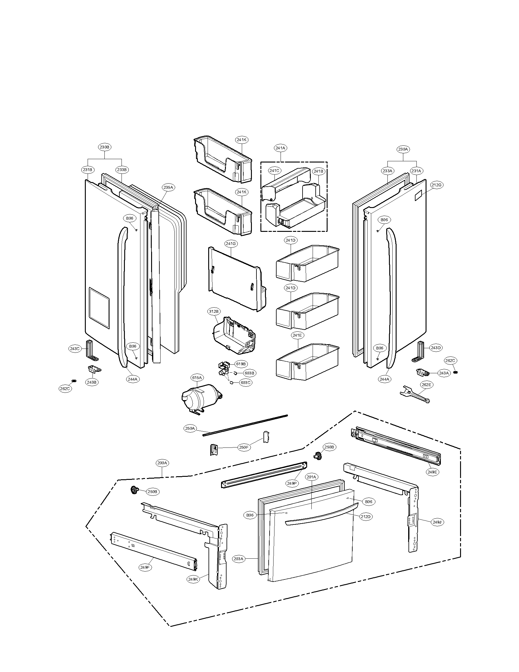 lg parts diagram refrigerator