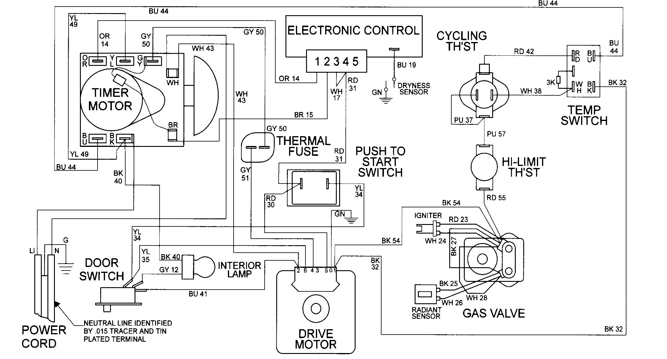 dryer plug wiring diagram schematic