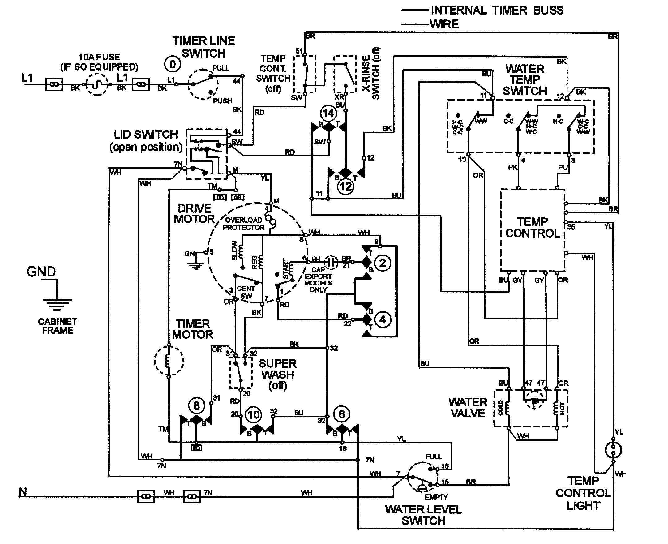 videocon washing machine circuit diagram