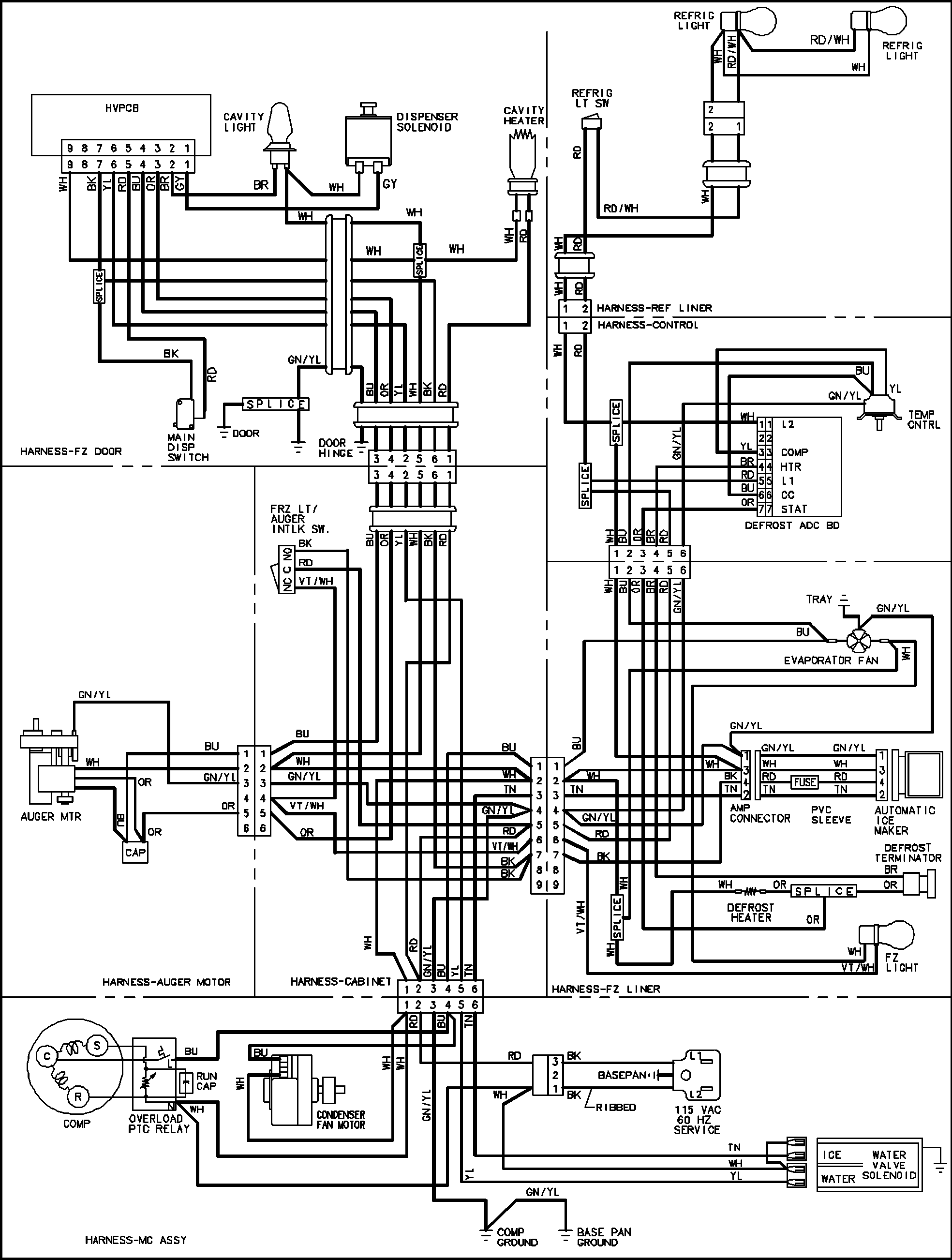 relay wiring diagrams for refrigeration