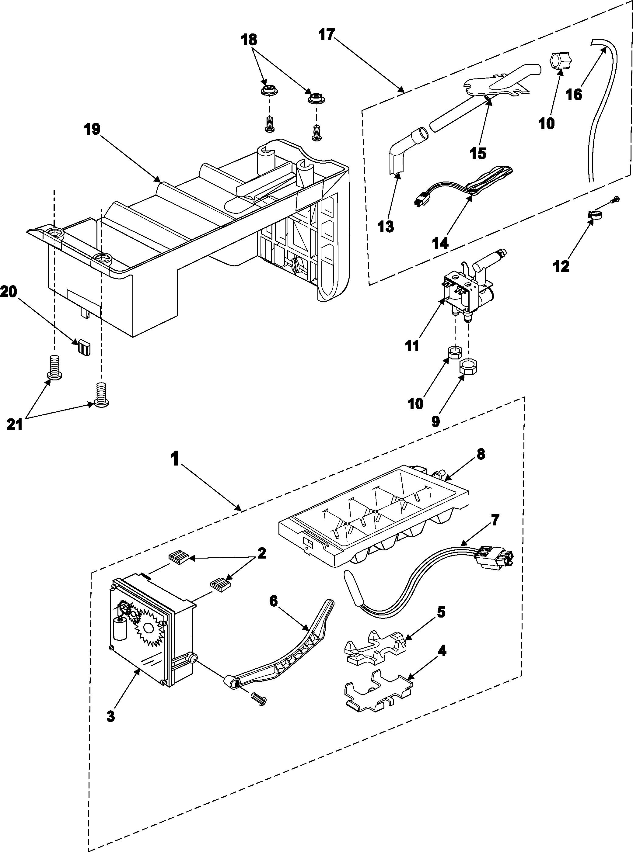 samsung ice maker diagram