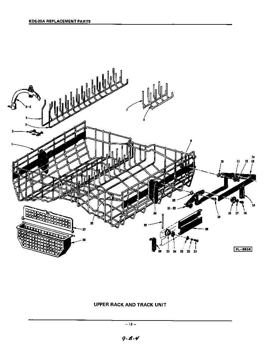 wash and drain pump diagram parts list for model kds20a kitchenaid