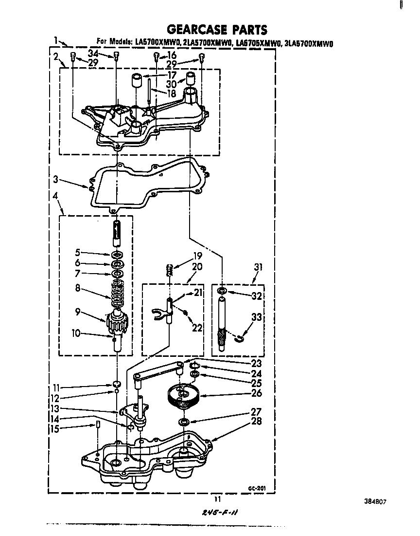 whirlpool automatic washer water pump parts model la5700xmw0
