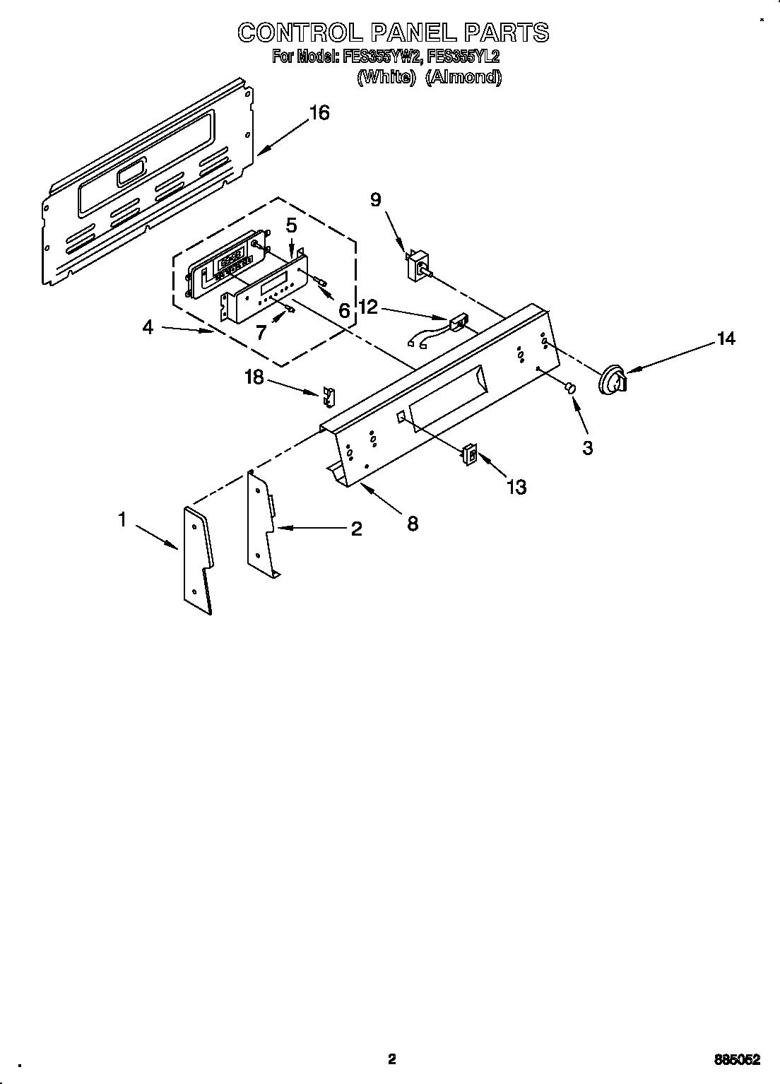 roper electric range unit parts model fes355yw2 searspartsdirect