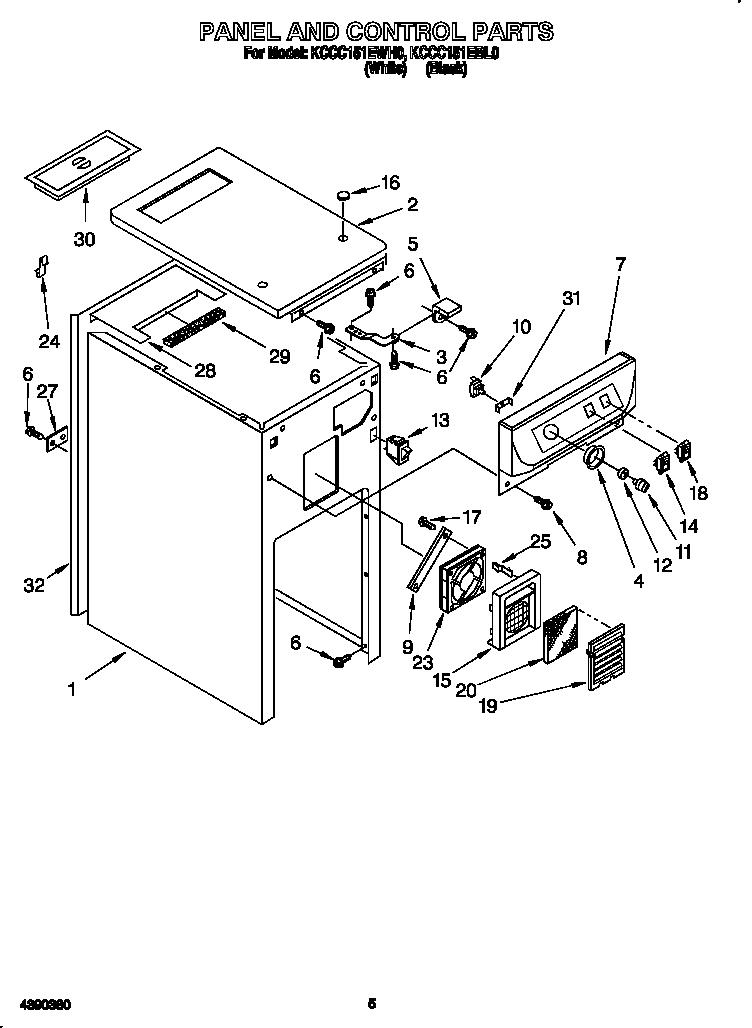 Kitchenaid Trash Compactor Parts Diagram