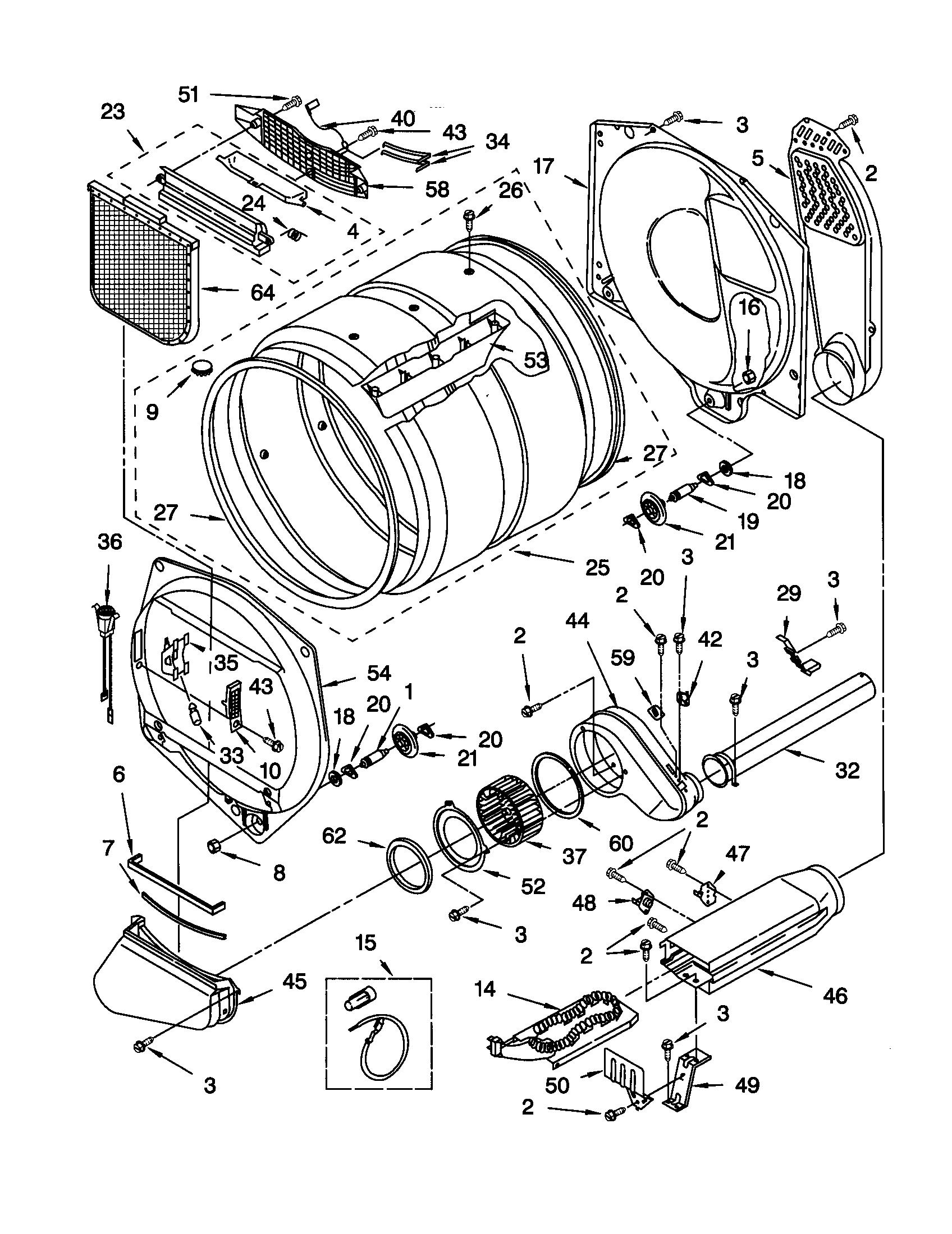 kenmore elite dryer heating element wiring diagram