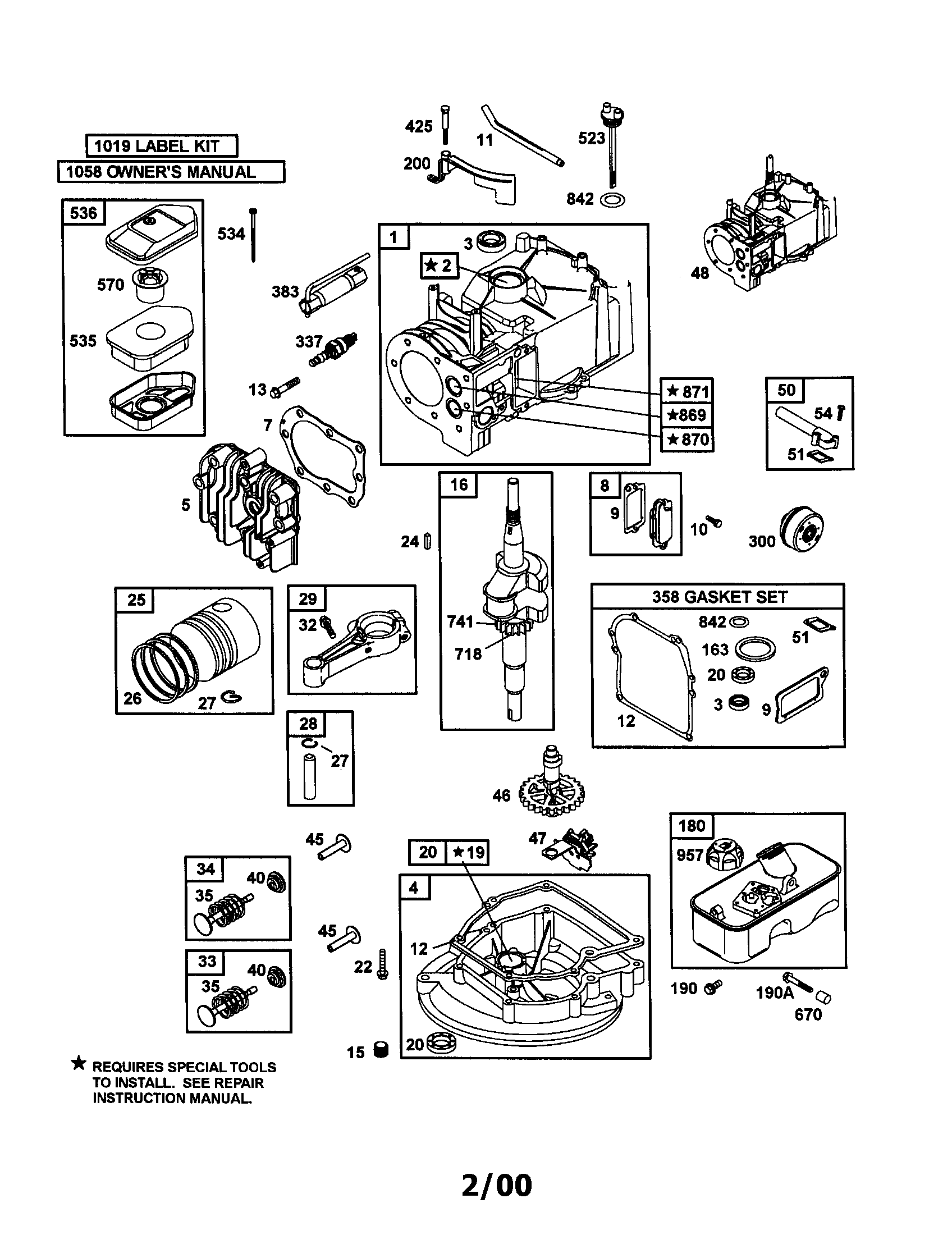 briggs 625 series diagram repair manuals