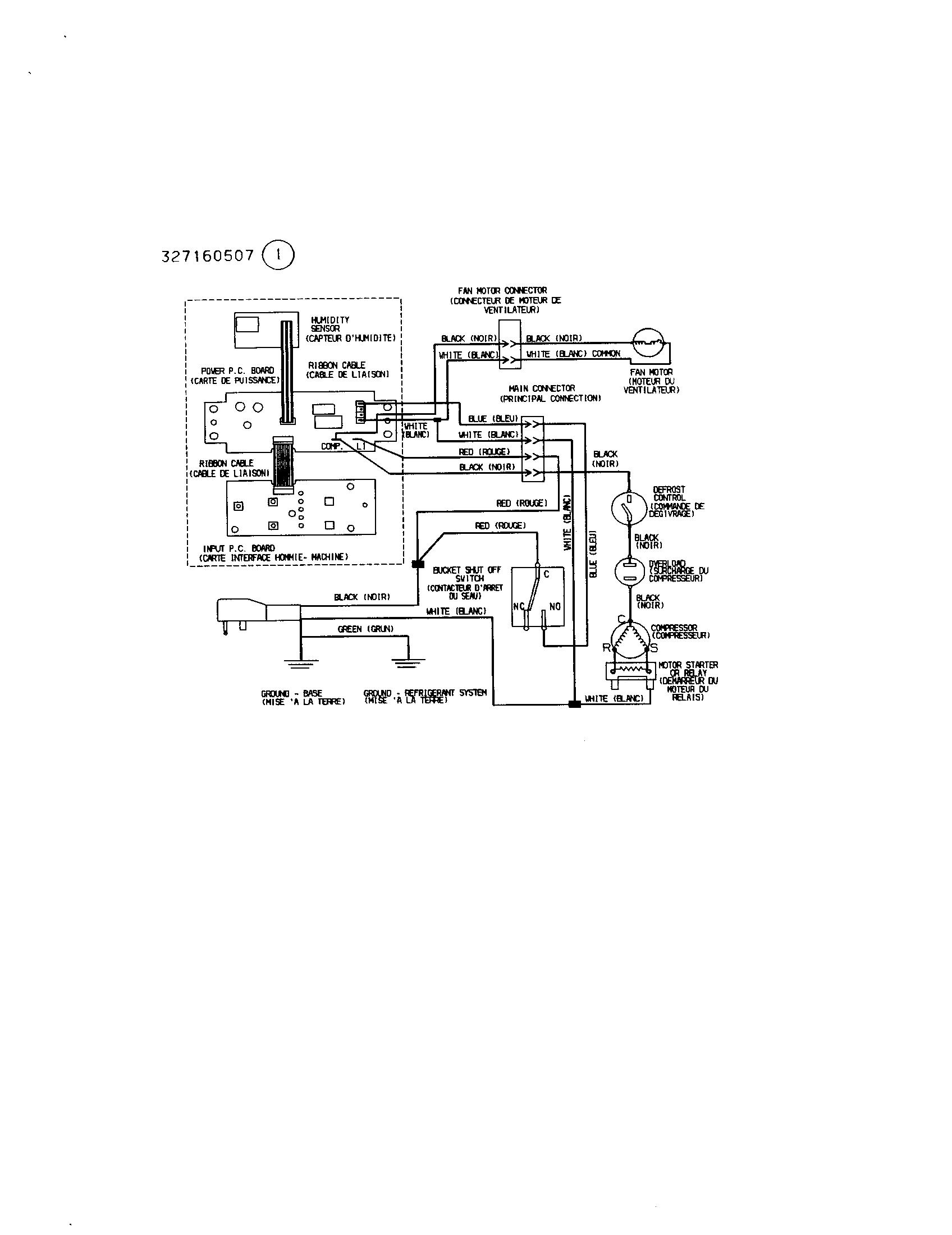 kenmore dehumidifier wiring diagram
