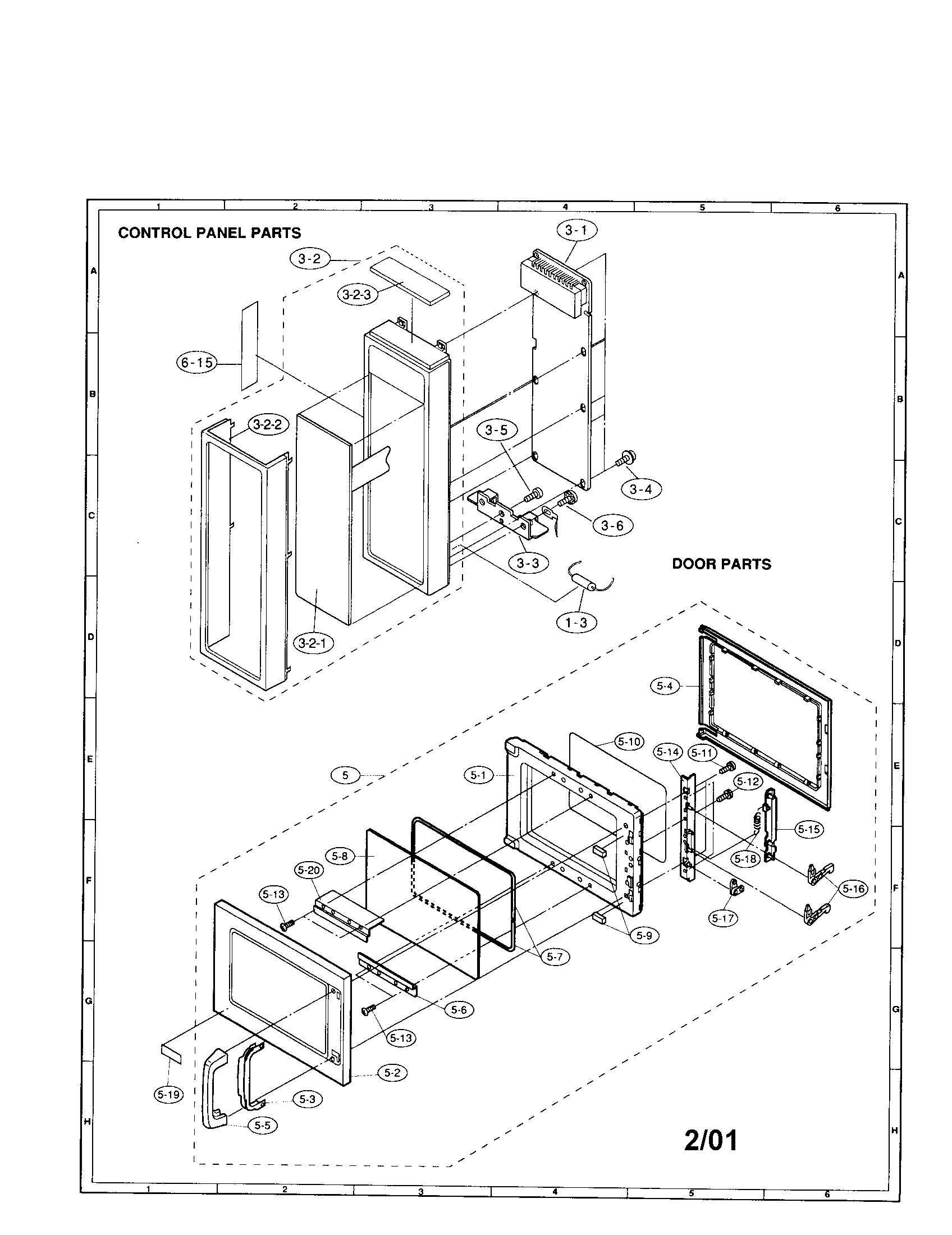 sharp microwave oven schematic off parts model r 22gt