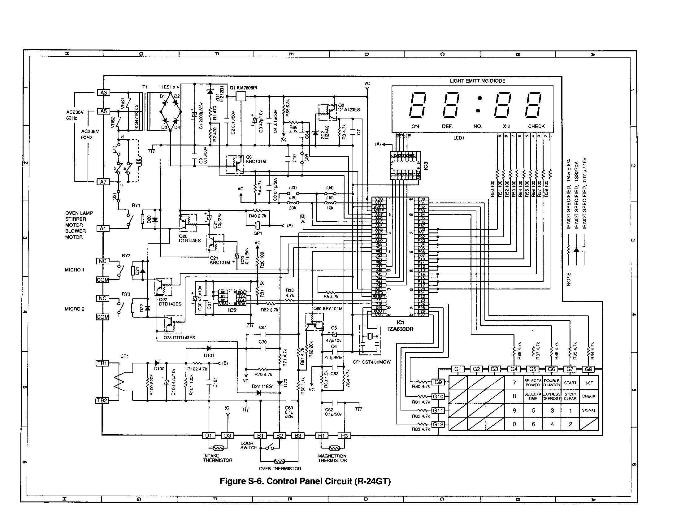 circuit diagram panasonic microwave oven