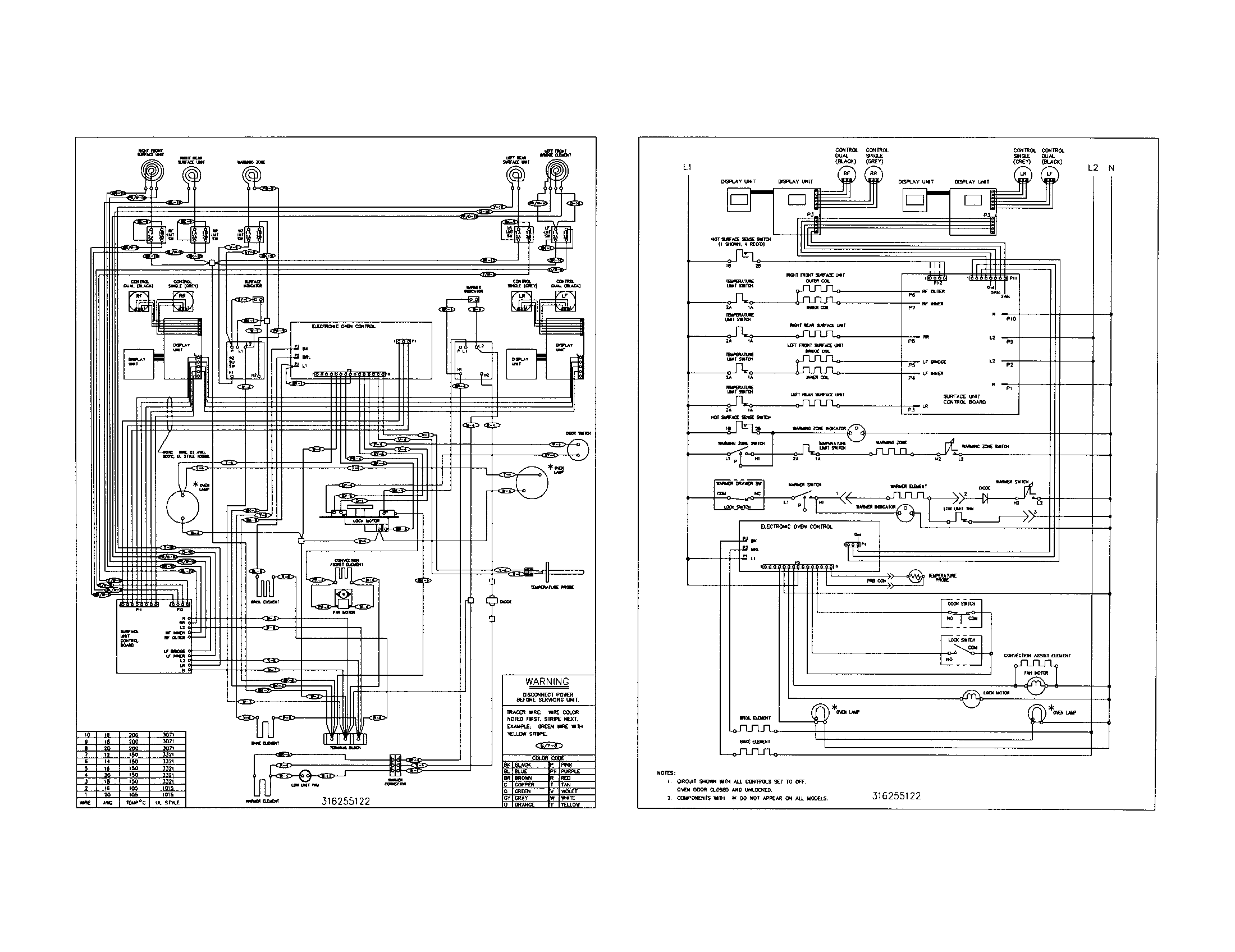 kenmore electric stove wiring diagrams 911 95582990