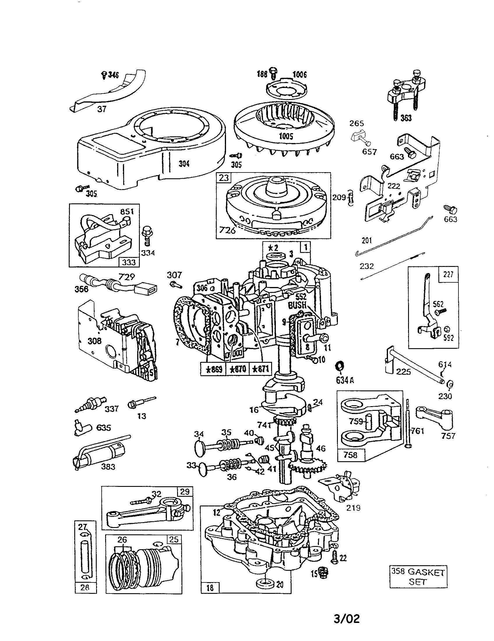cub cadet engine diagram