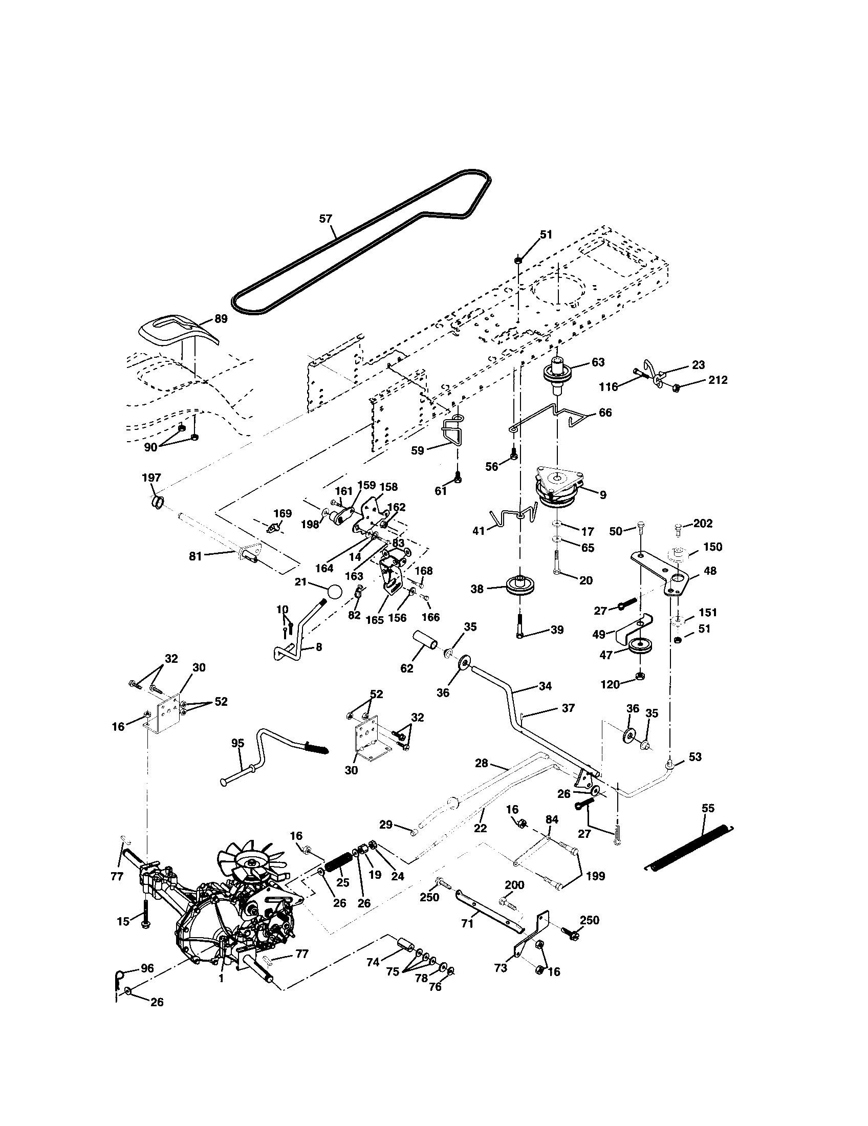 Implement Replacement Parts : Wiring diagram for a sears d riding mower tractor