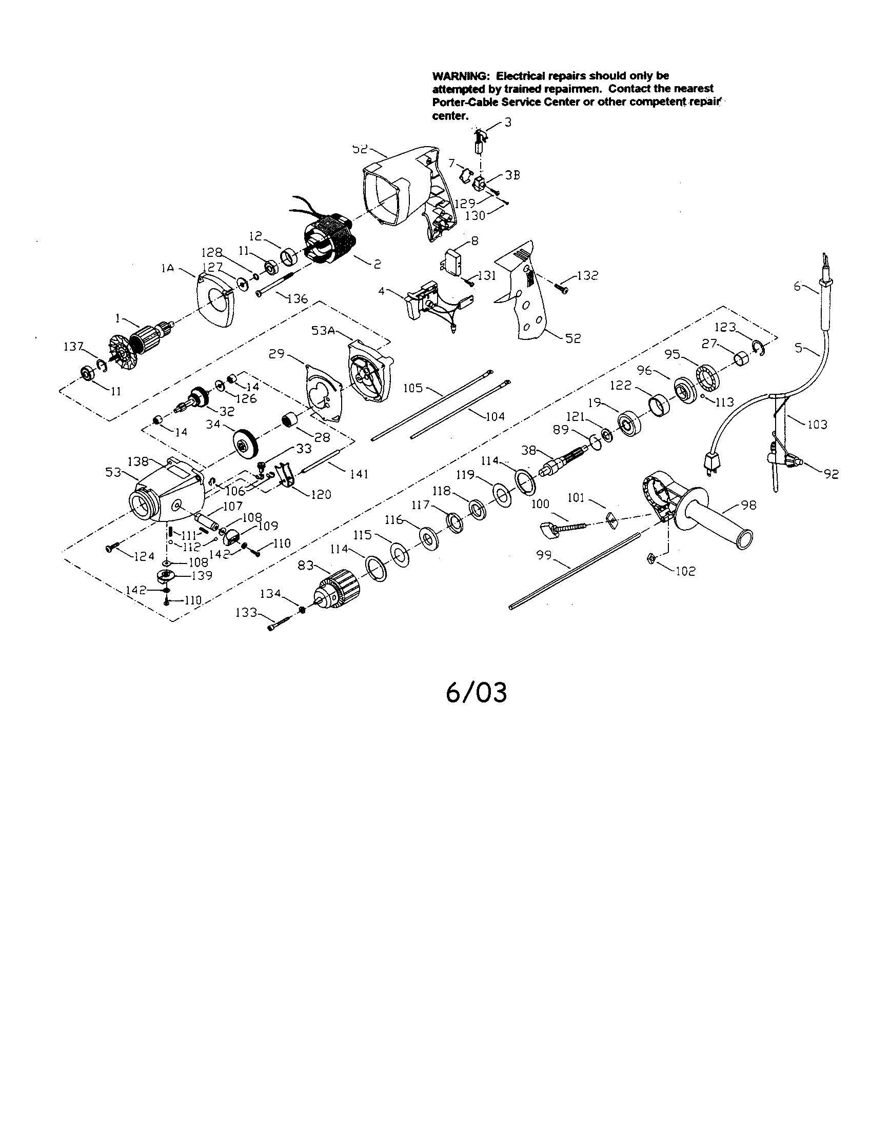 bosch hammer drill parts bosch 11241evs parts list and diagram