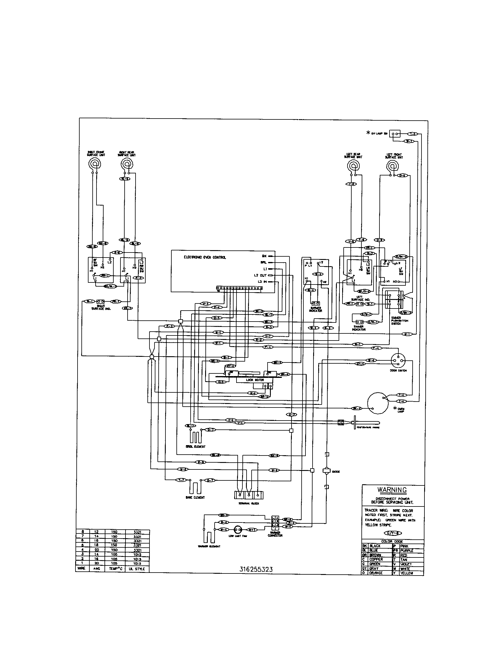 kenmore wall oven wiring diagram