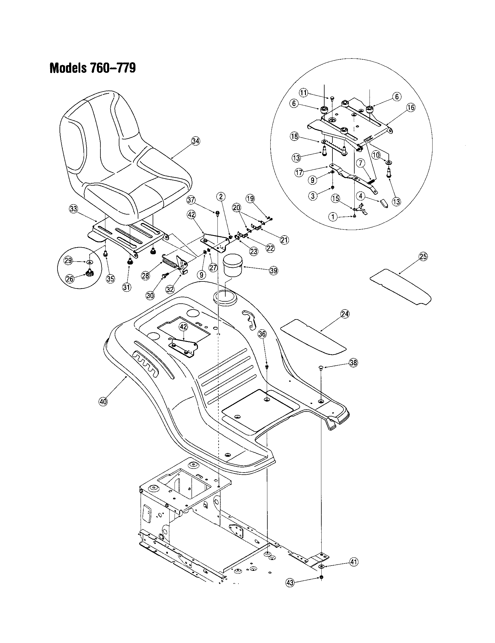 grille 760 770 diagram and parts list for mtd ridingmowertractor