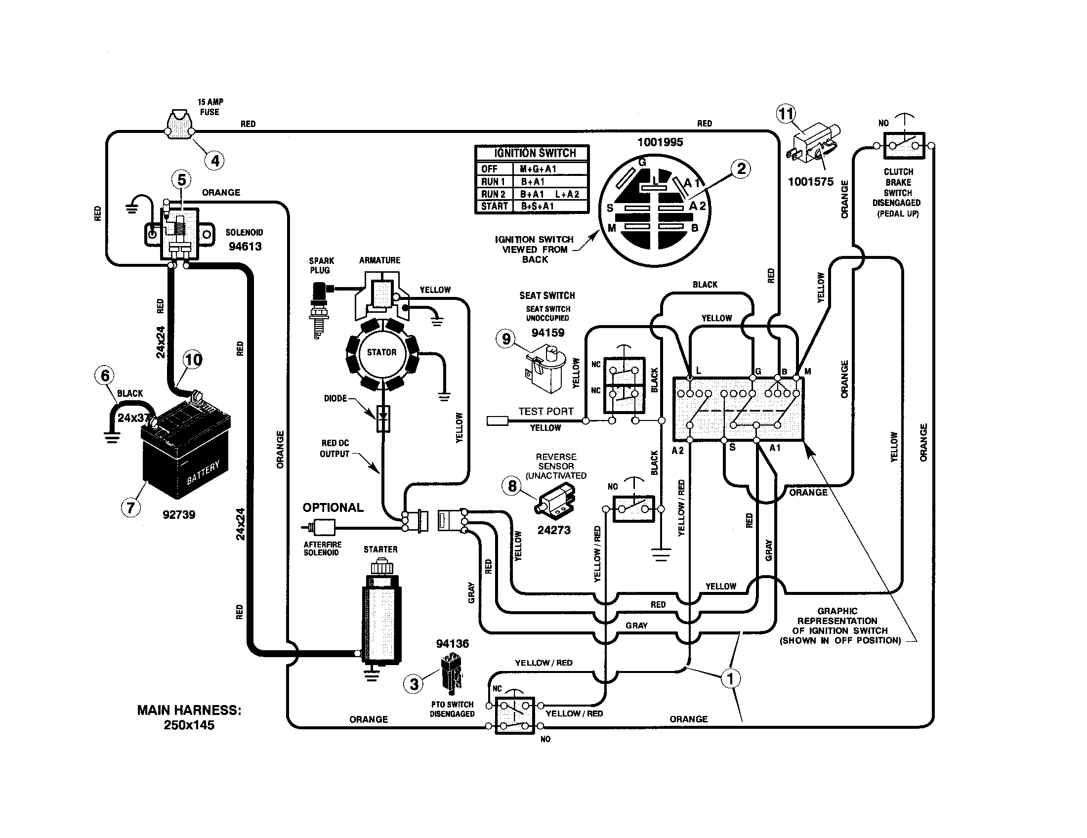 wiring diagram for sears lawn mower