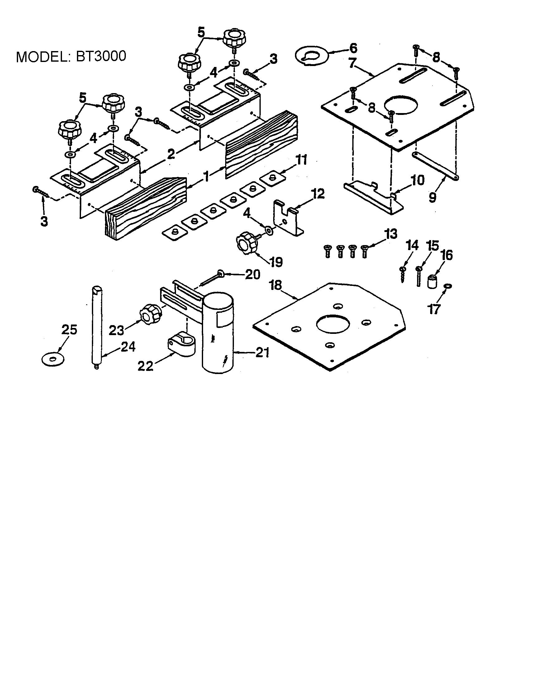 ryobi table saw diagram