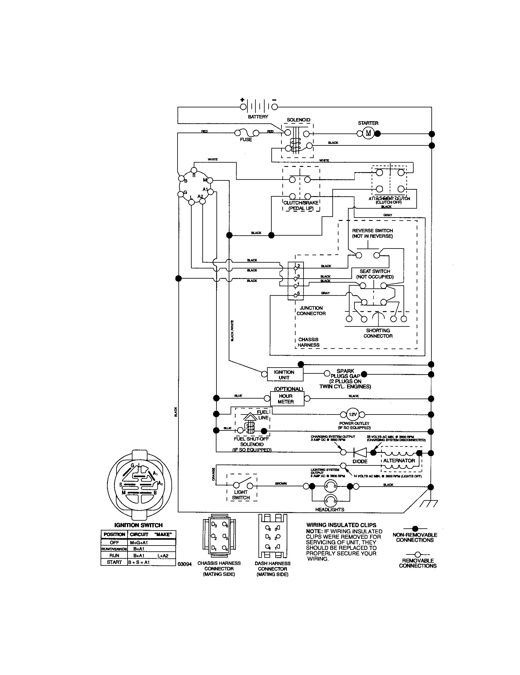 sears craftsman lt1000 wiring diagram