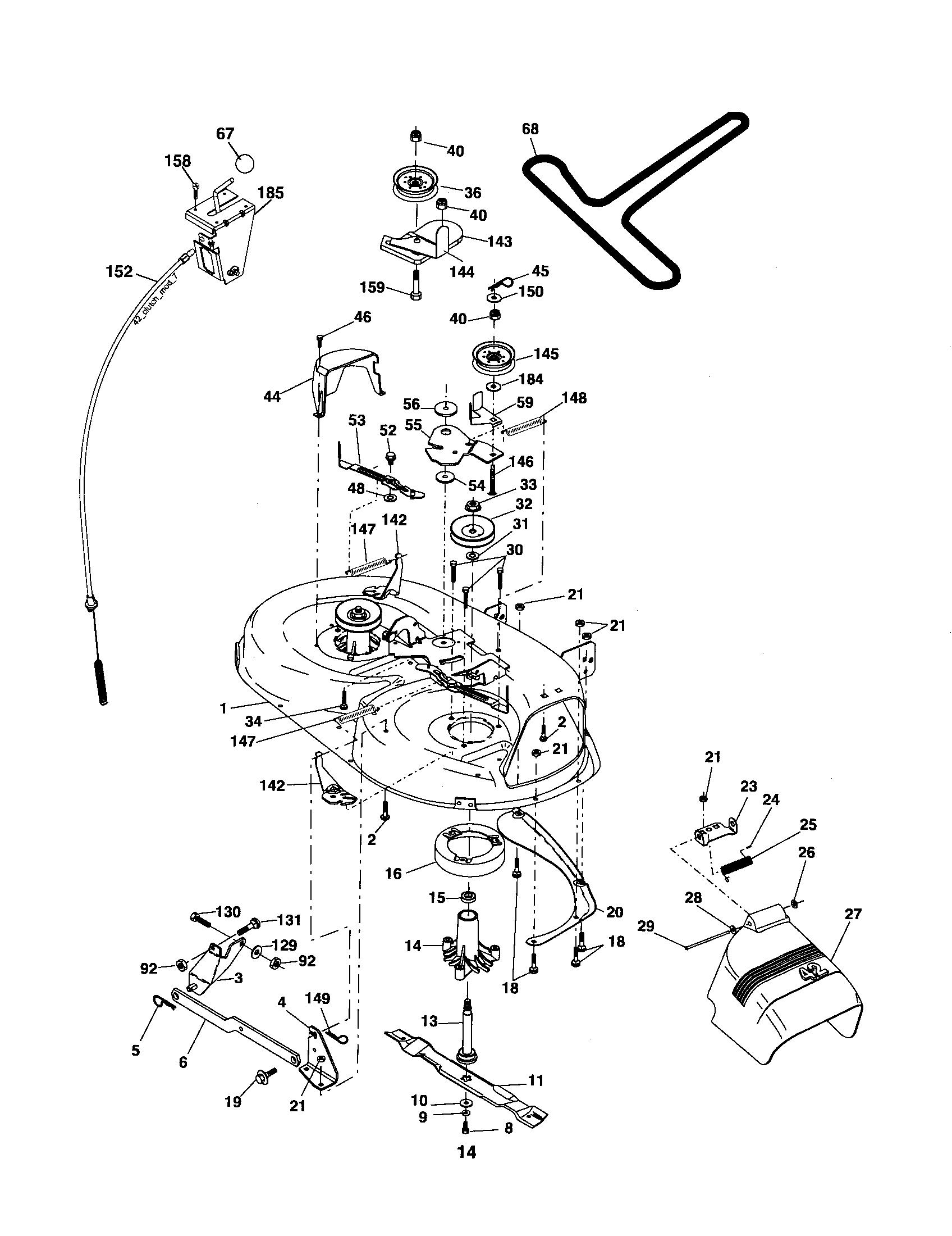 wiring diagram poulan riding 42 in