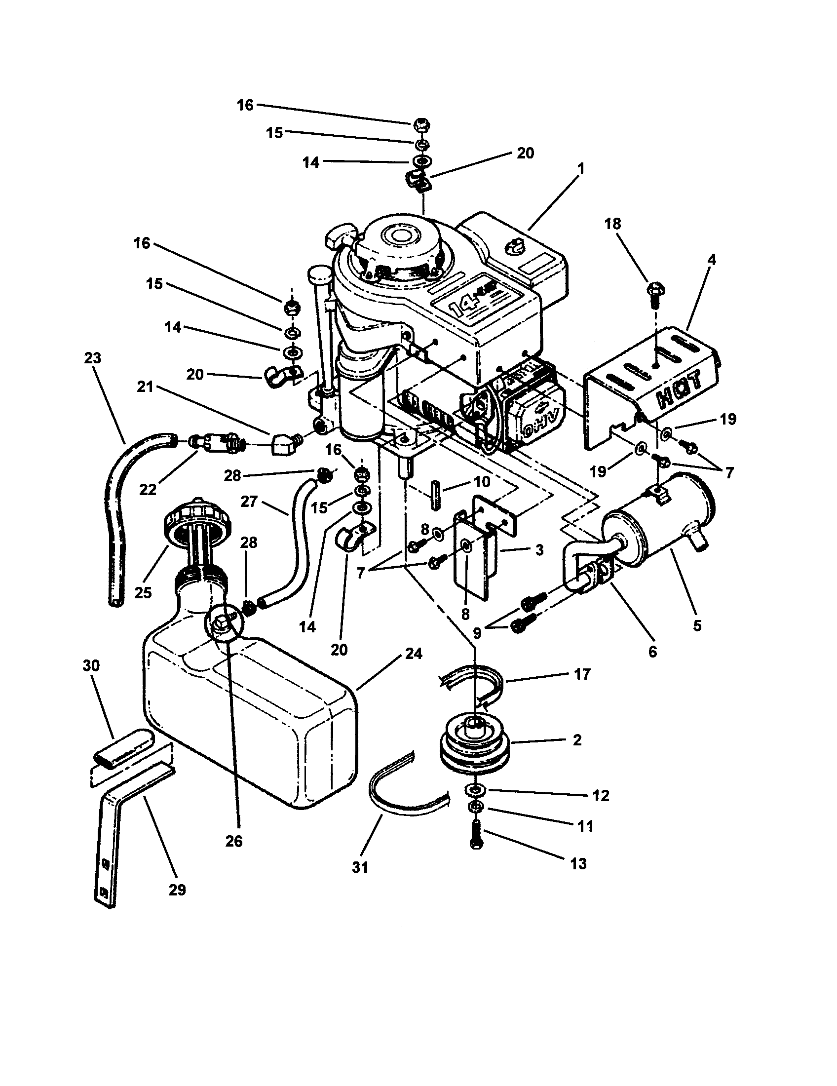 wiring diagram for rear engine snapper mower