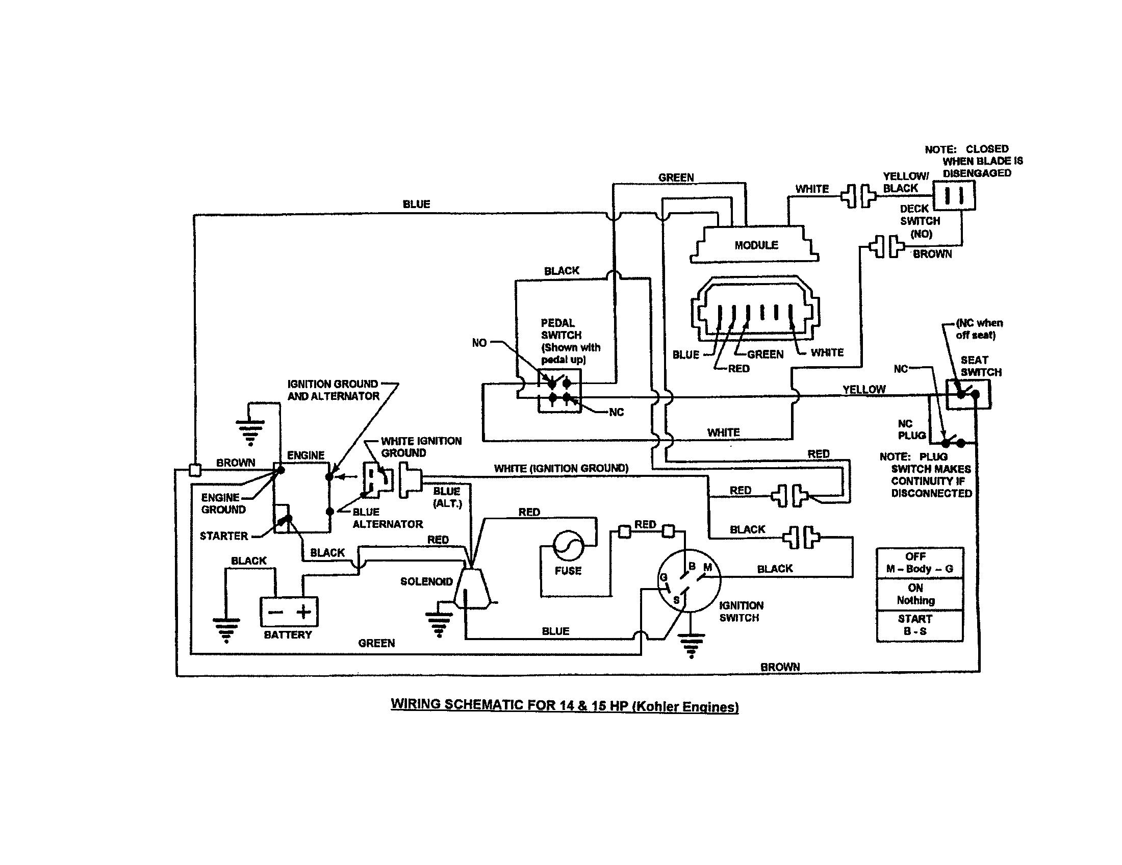 lawn mower stator wiring schematic