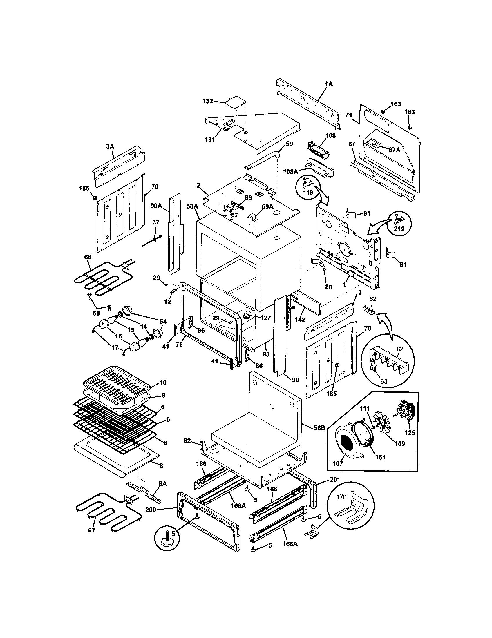 frigidaire electric range model ples389eci