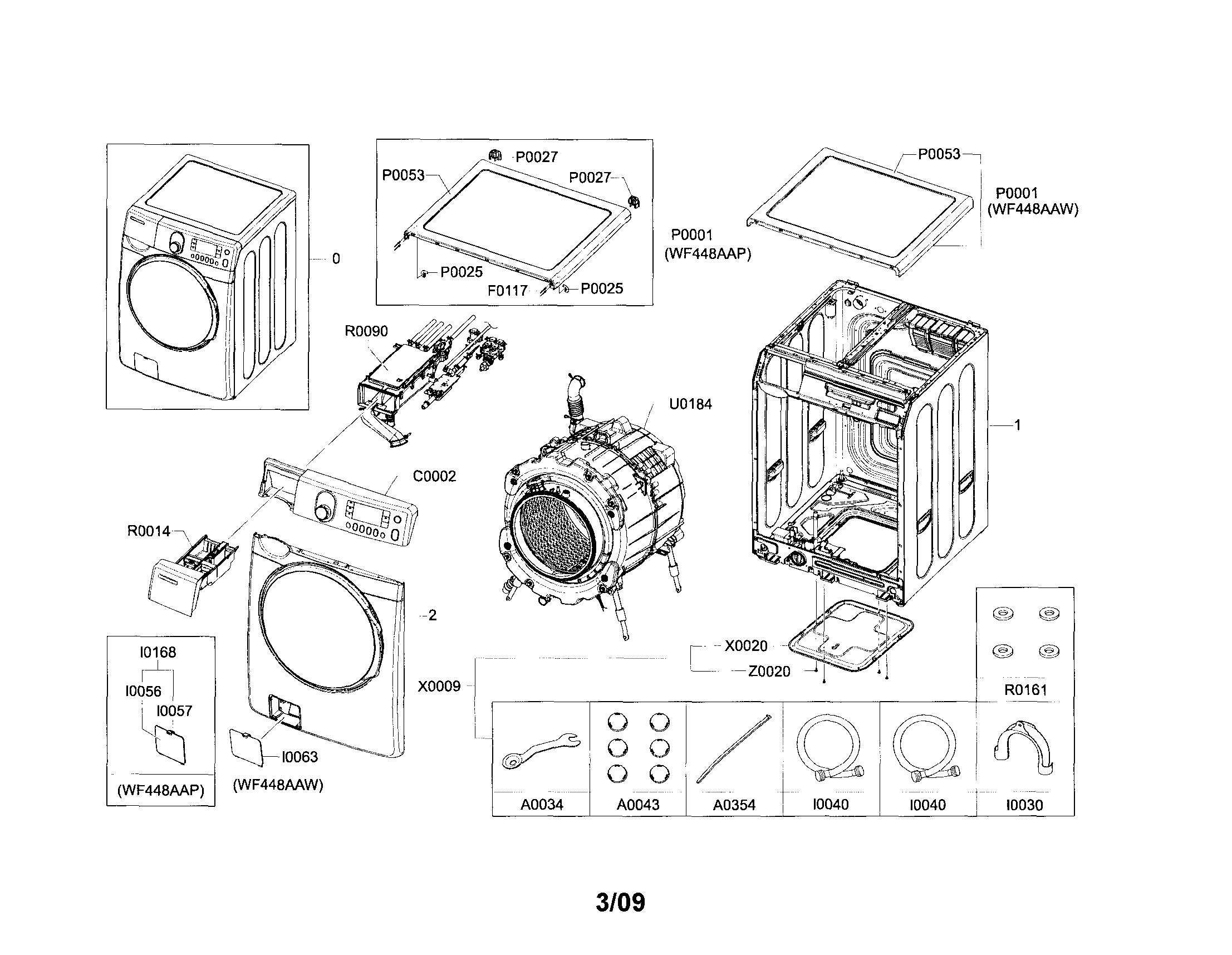 samsung front loader diagram