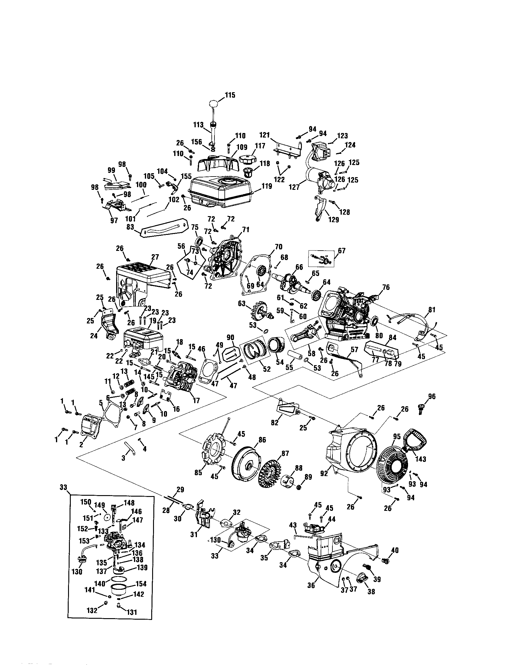 mtd 179cc small engine diagram