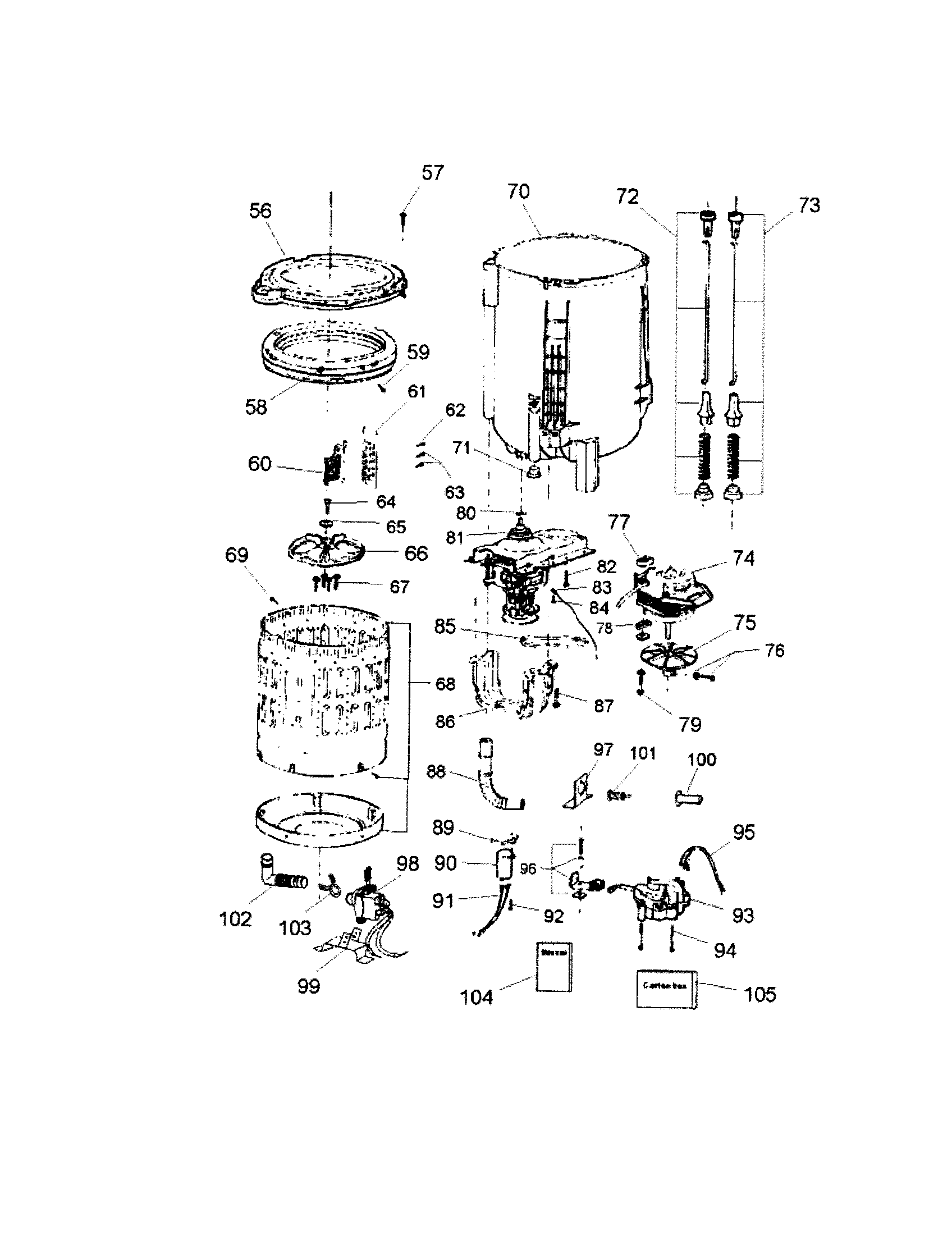 haier washer parts diagram