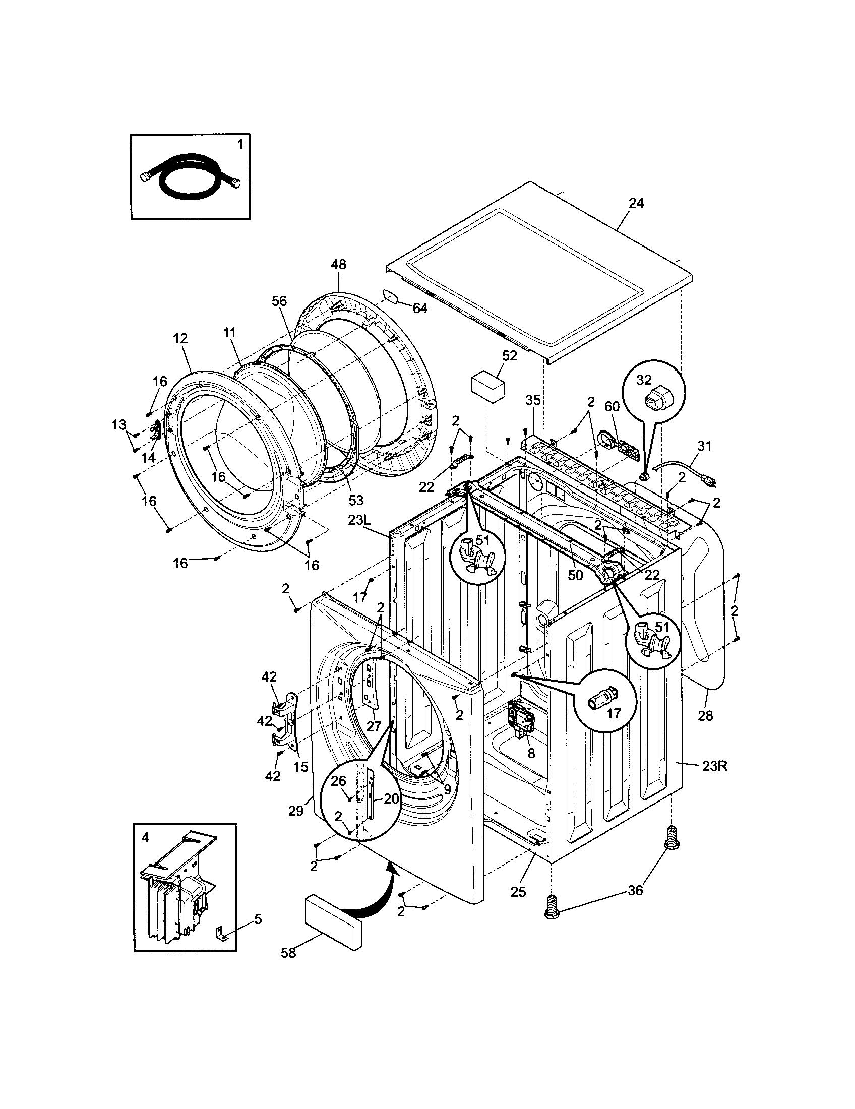 frigidaire washer manuals online
