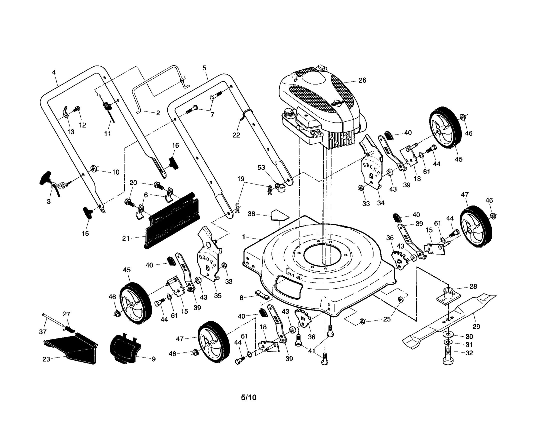 craftsman lawn mower engine diagram