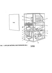 YORK UPFLOW GAS FURNACE Parts | Model G9T10014UPC13 ...