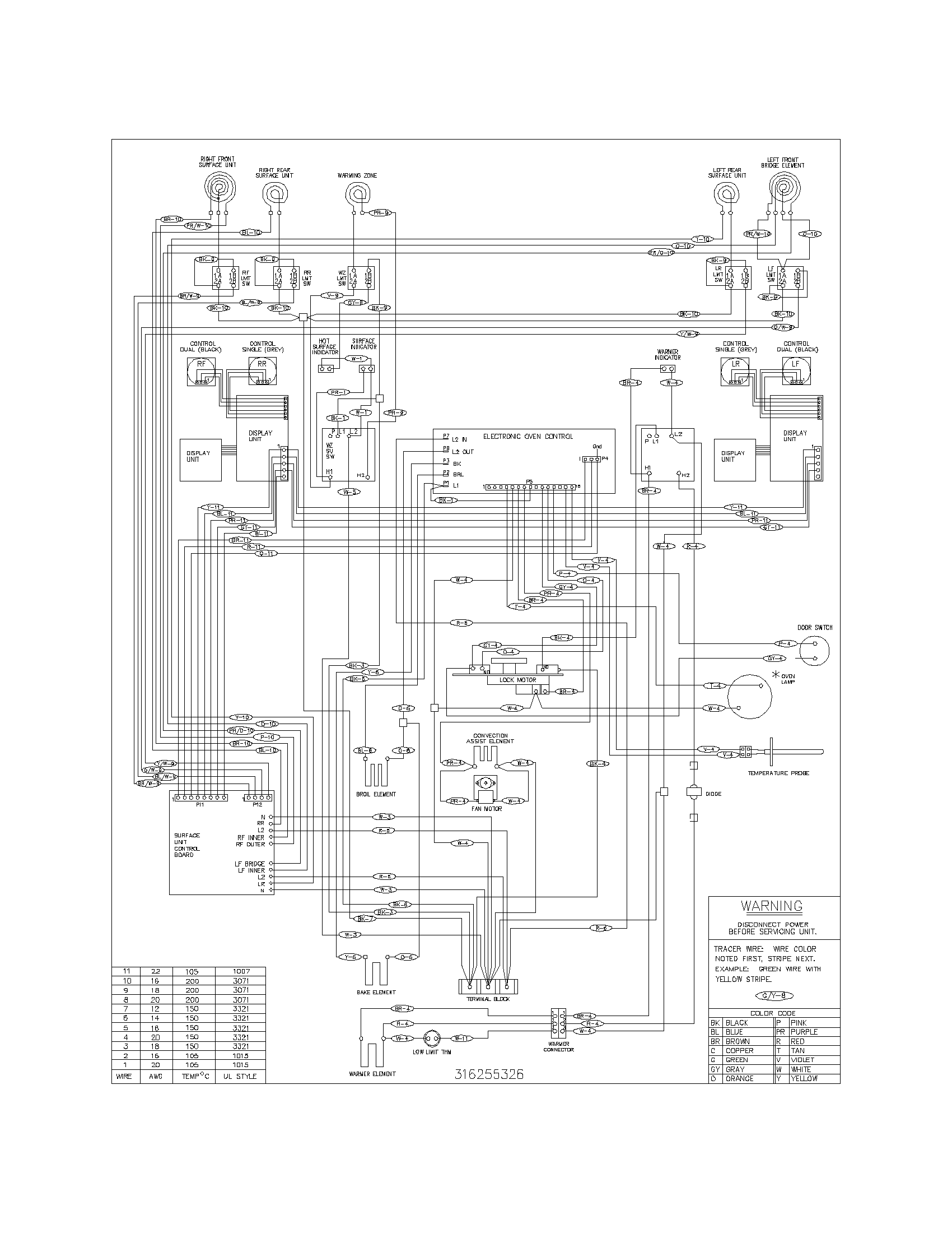 connecting electric cooker diagram