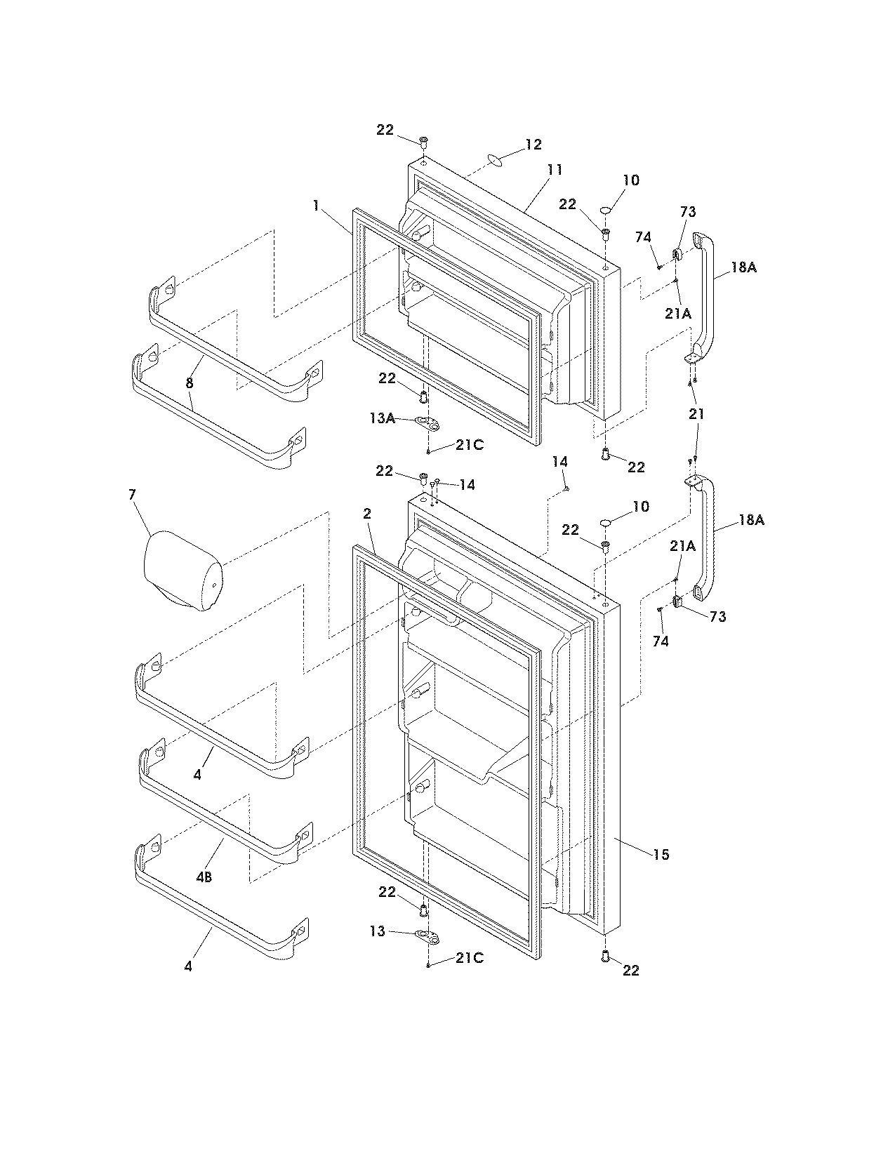 crosley refrigerator parts