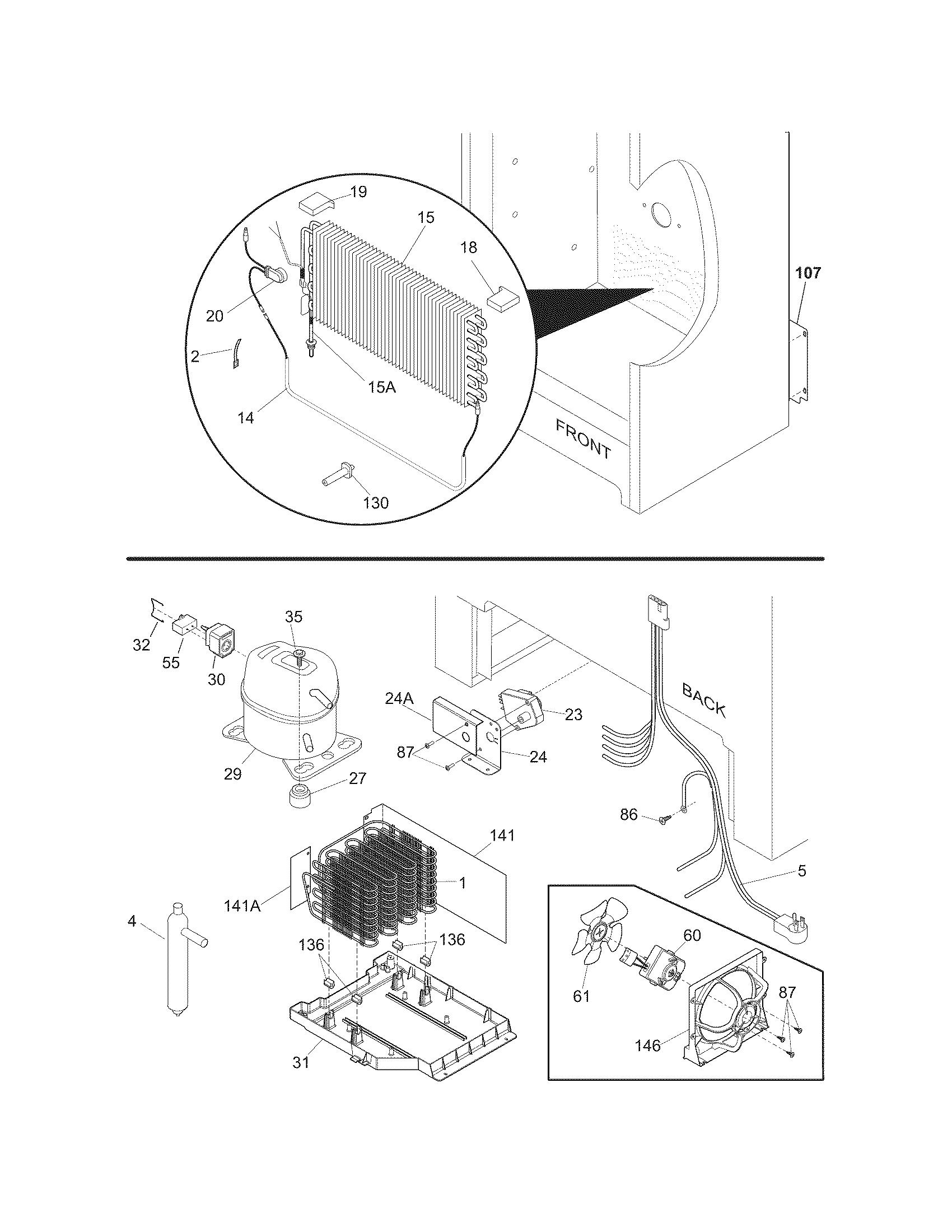 freezer wiring schematic sears 106 720461