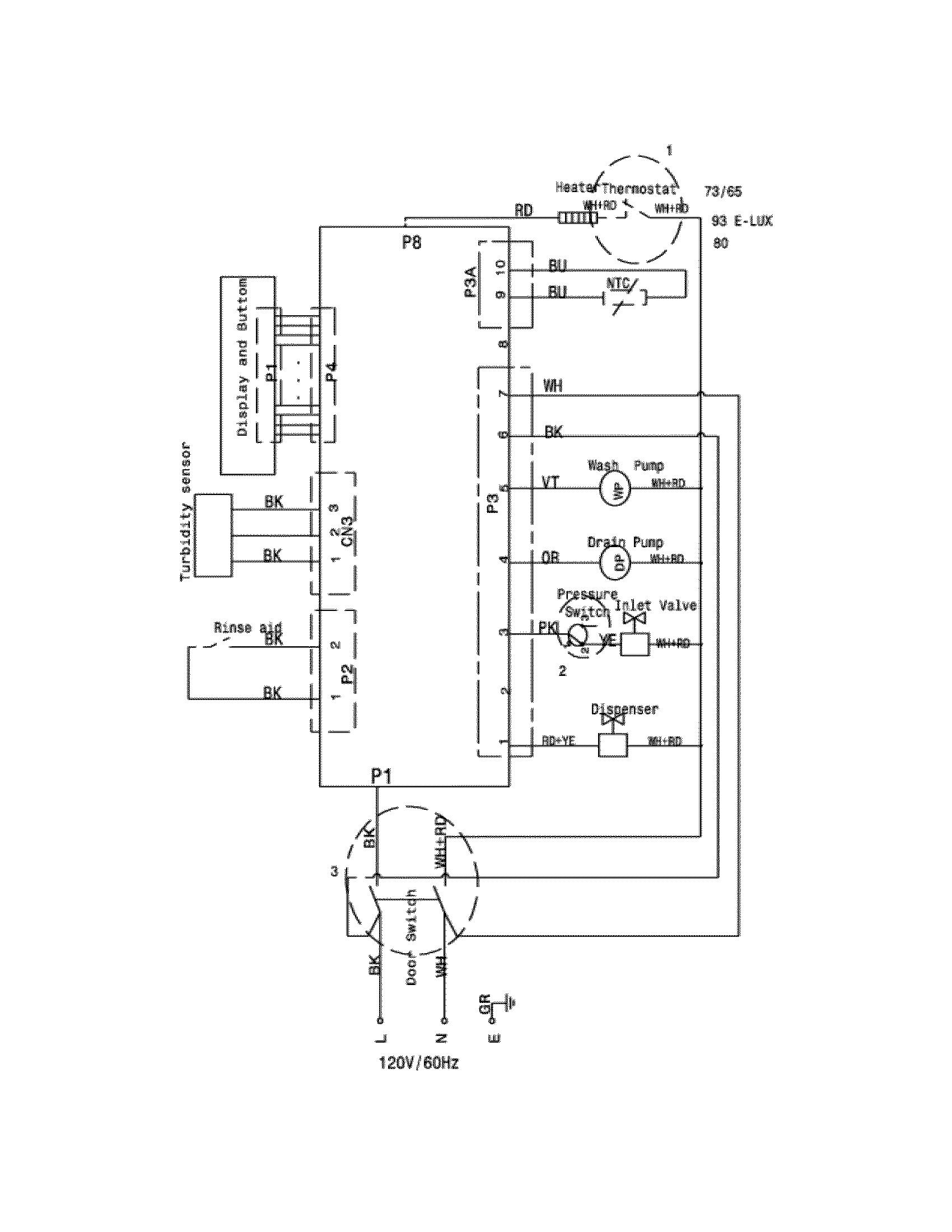wiring schematic diagram parts list for model fefs52dqd frigidaire
