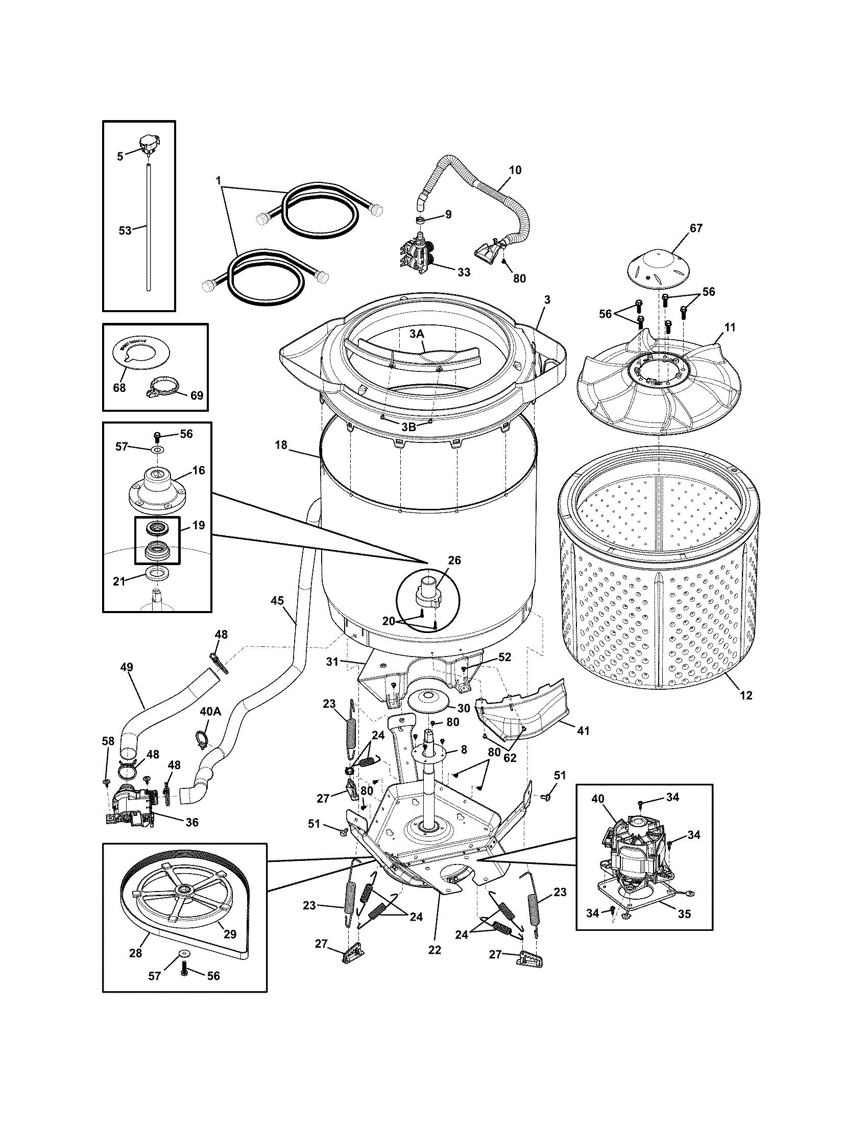 frigidaire dryer parts diagram