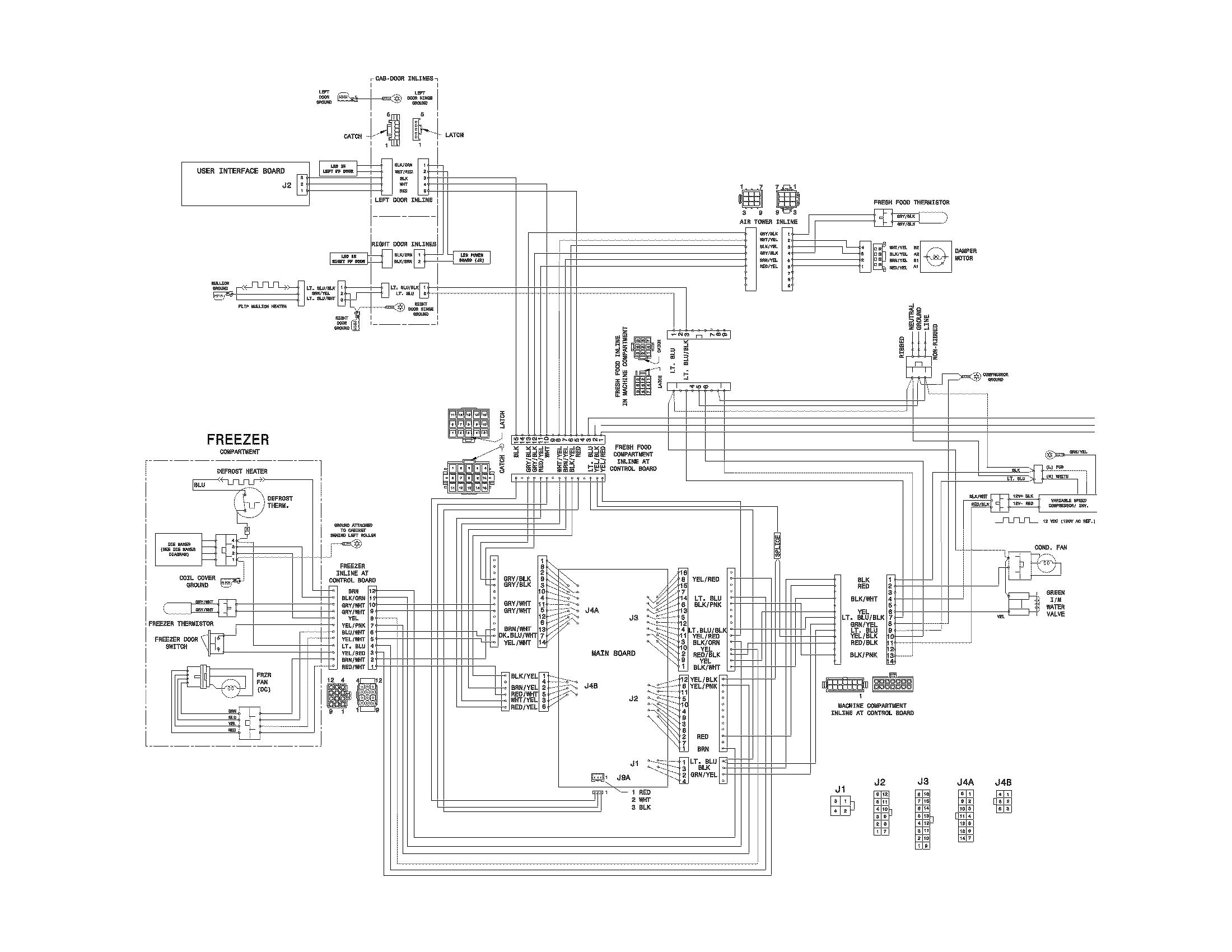 3 way fridge wiring diagram