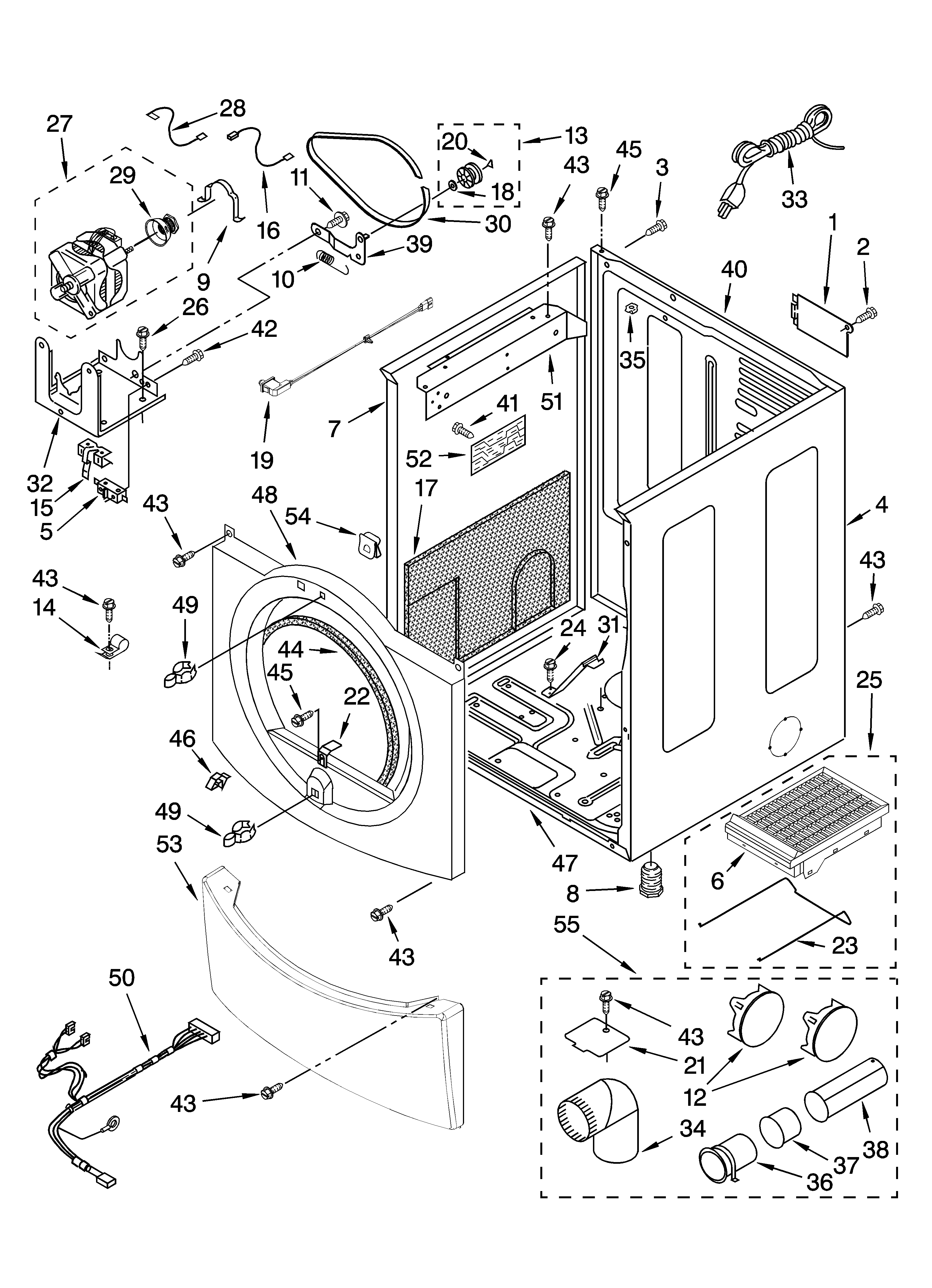 parts diagram parts list for model mgd9700sq0 maytagparts dryer