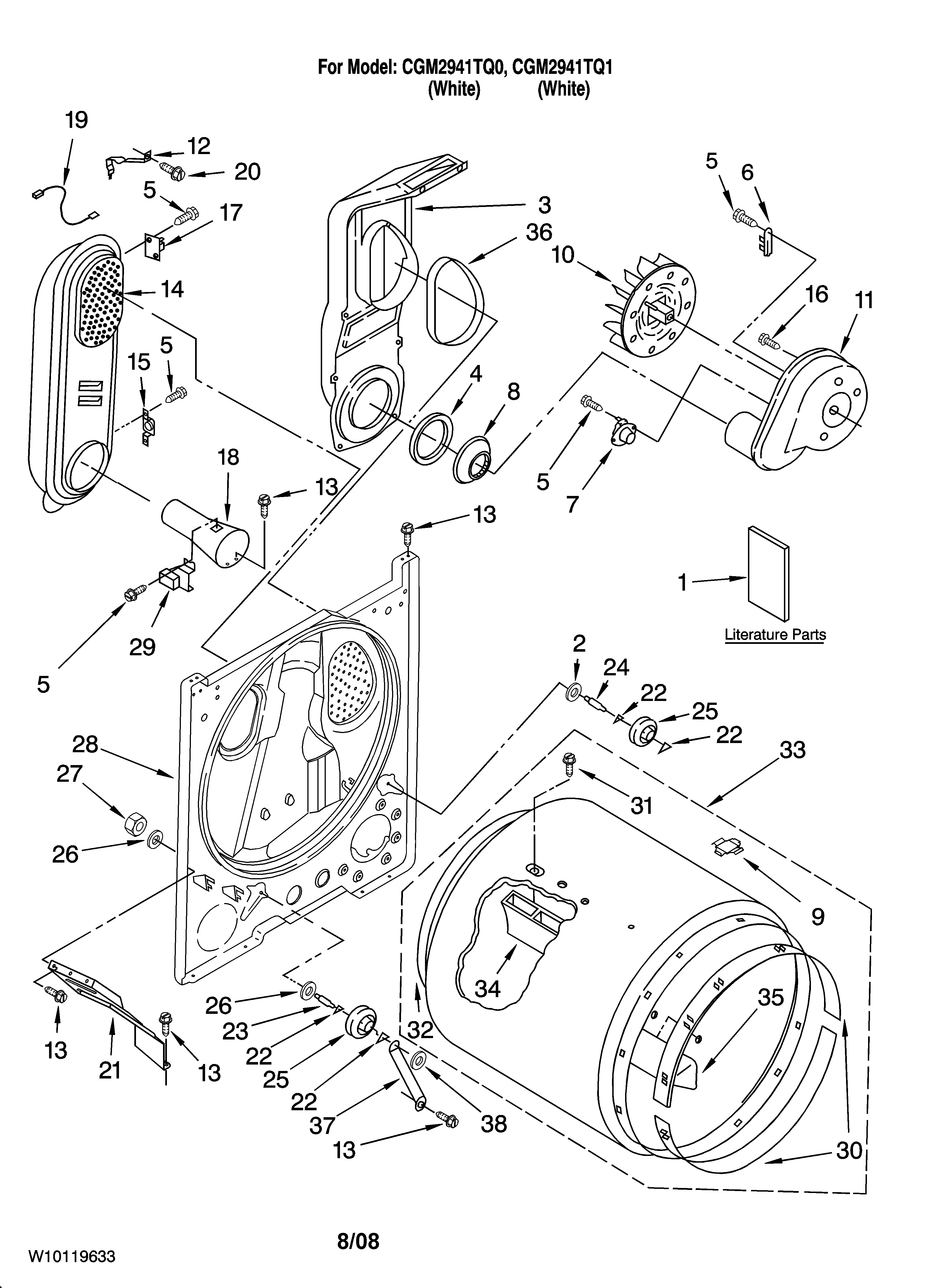 diagram parts list for model ler7646eq0 whirlpoolparts dryerparts